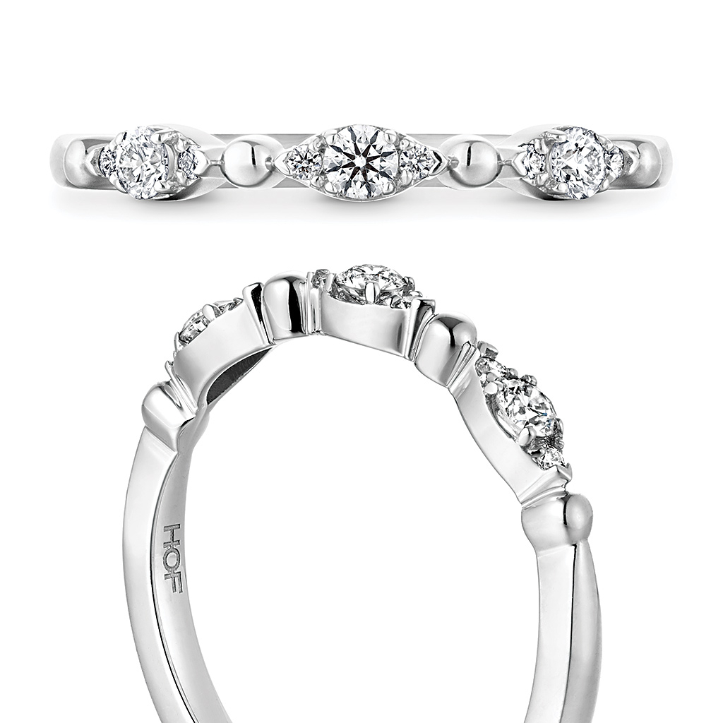 "Hearts On Fire ""Regal"" 18K White Gold Diamond Wedding Band Throughout Most Recent Regal Band Rings (Gallery 8 of 25)"