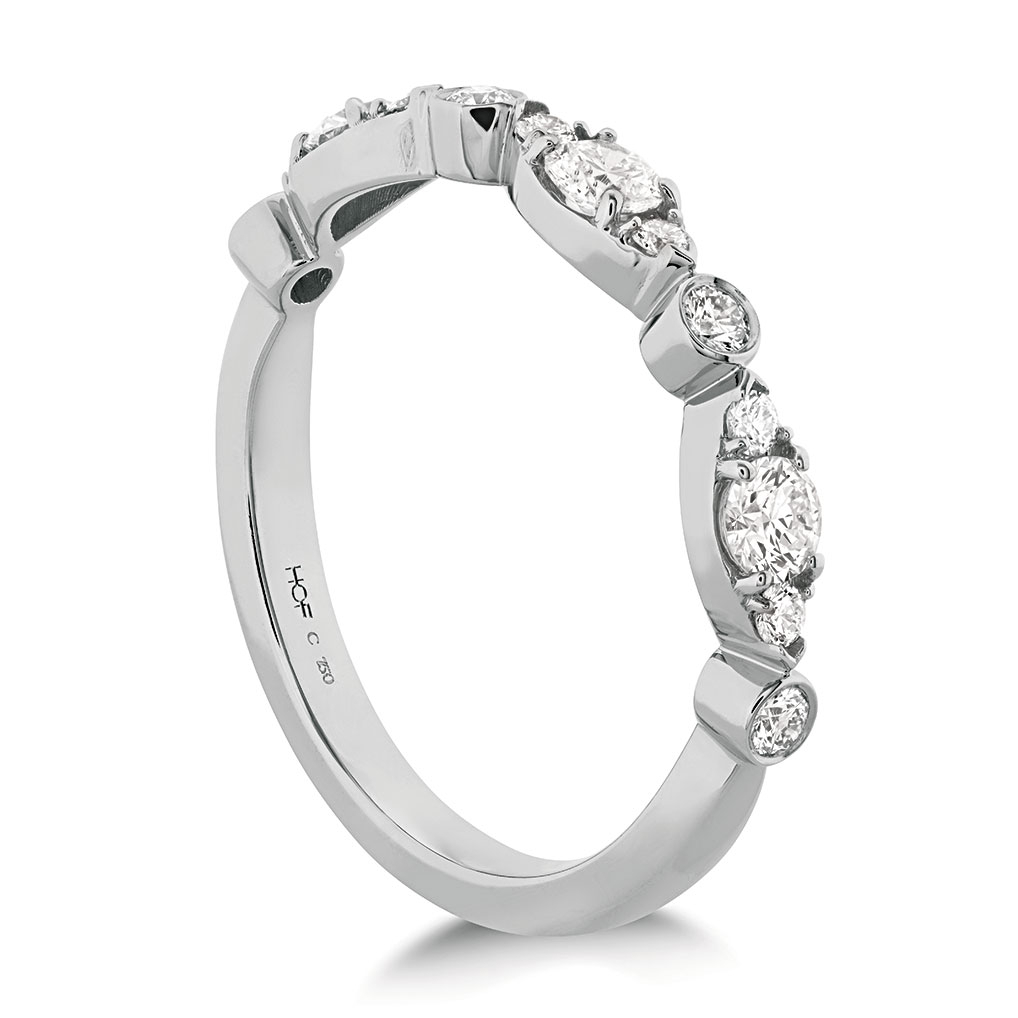 "Hearts On Fire ""Regal"" 18K White Gold Diamond Wedding Band Within Most Up To Date Regal Band Rings (Gallery 12 of 25)"