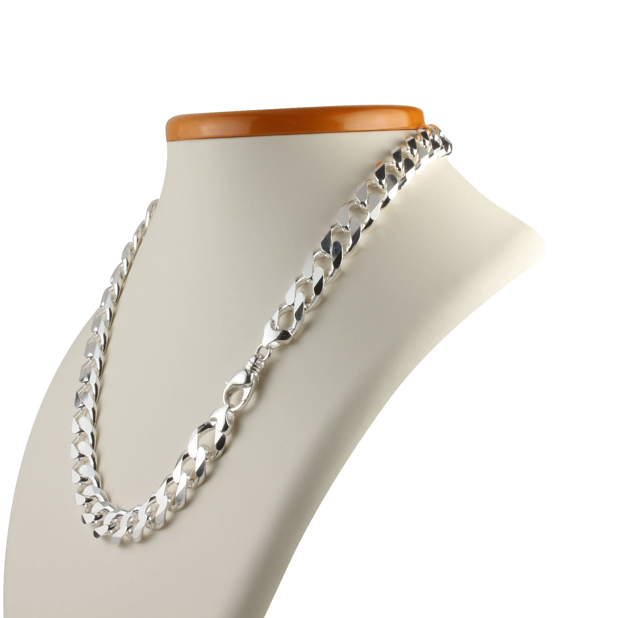 Heavy Wide Silver Curb Chain 13Mm Width Within Most Up To Date Curb Chain Necklaces (View 7 of 25)