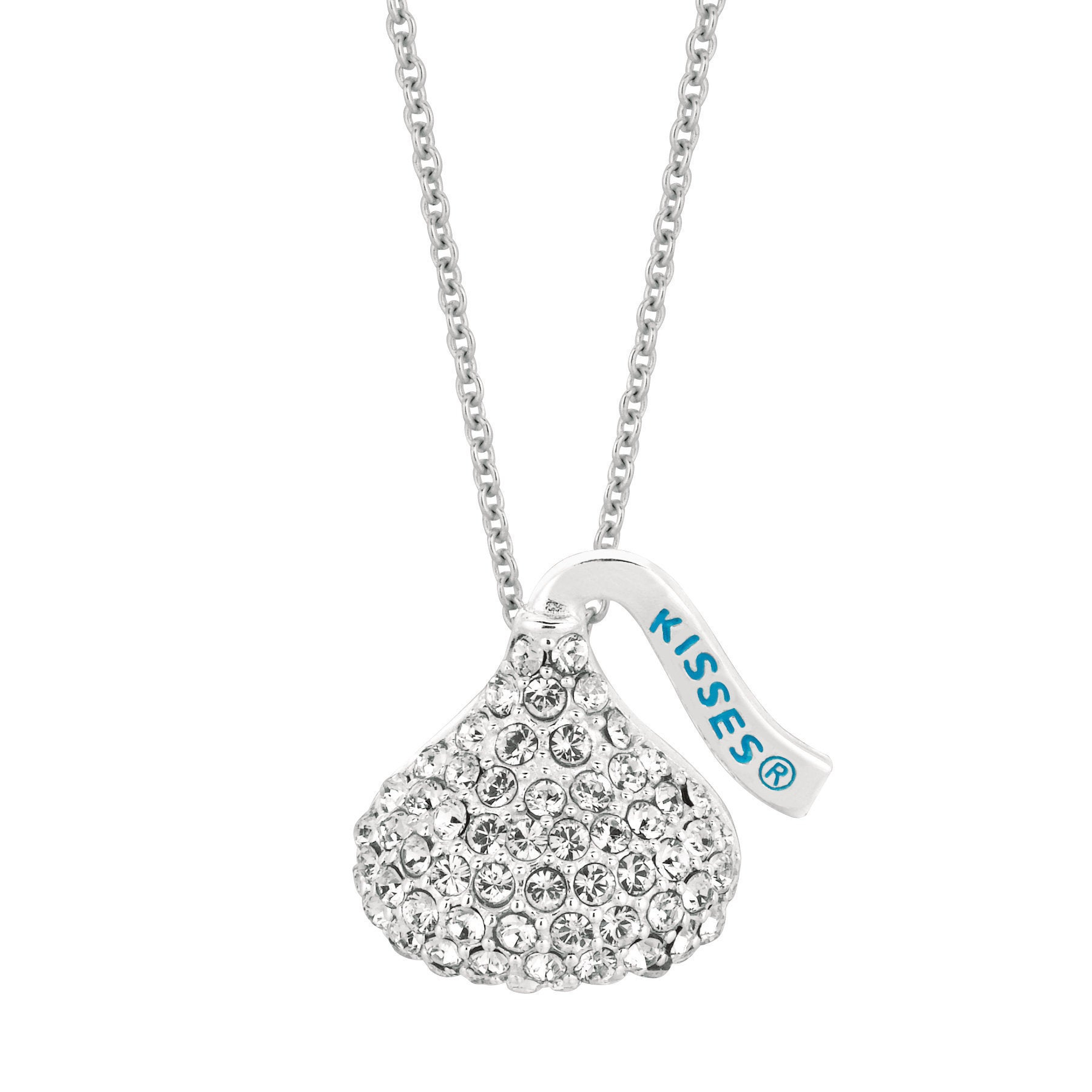 Hershey's Kisses Brass Swarovski Elements Women's 18 Inch Medium Flat Back  Pendant With 2020 Sparkling Infinity Locket Element Necklaces (Gallery 23 of 25)