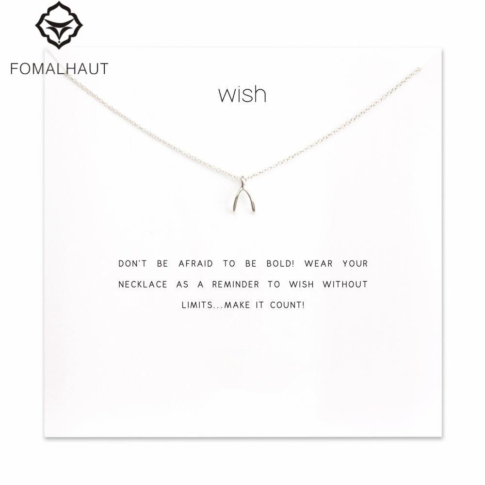 Hot Sale Sparkling Wishbone Pendant Necklace Clavicle Chains Statement Necklace Women Fomalhaut Jewelry F 11 Pertaining To Newest Sparkling Wishbone Necklaces (View 11 of 25)