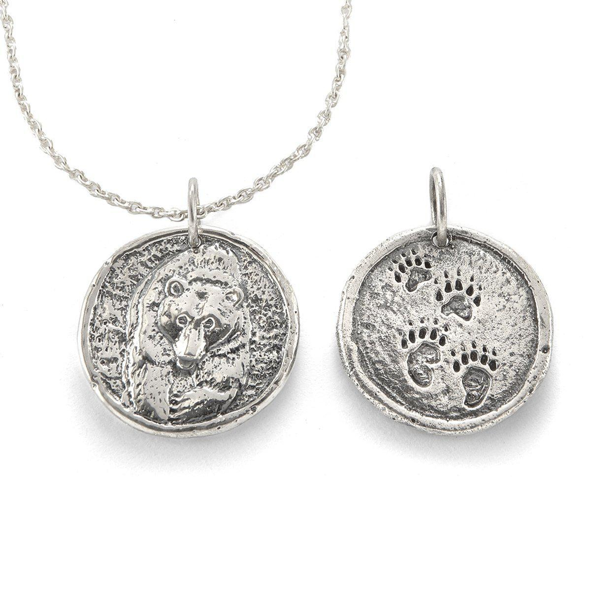 House Of Alaia Power Bear Traveller's Coin Necklace Silver In Inside Most Popular Theodore Bear Pendant Necklaces (View 3 of 25)