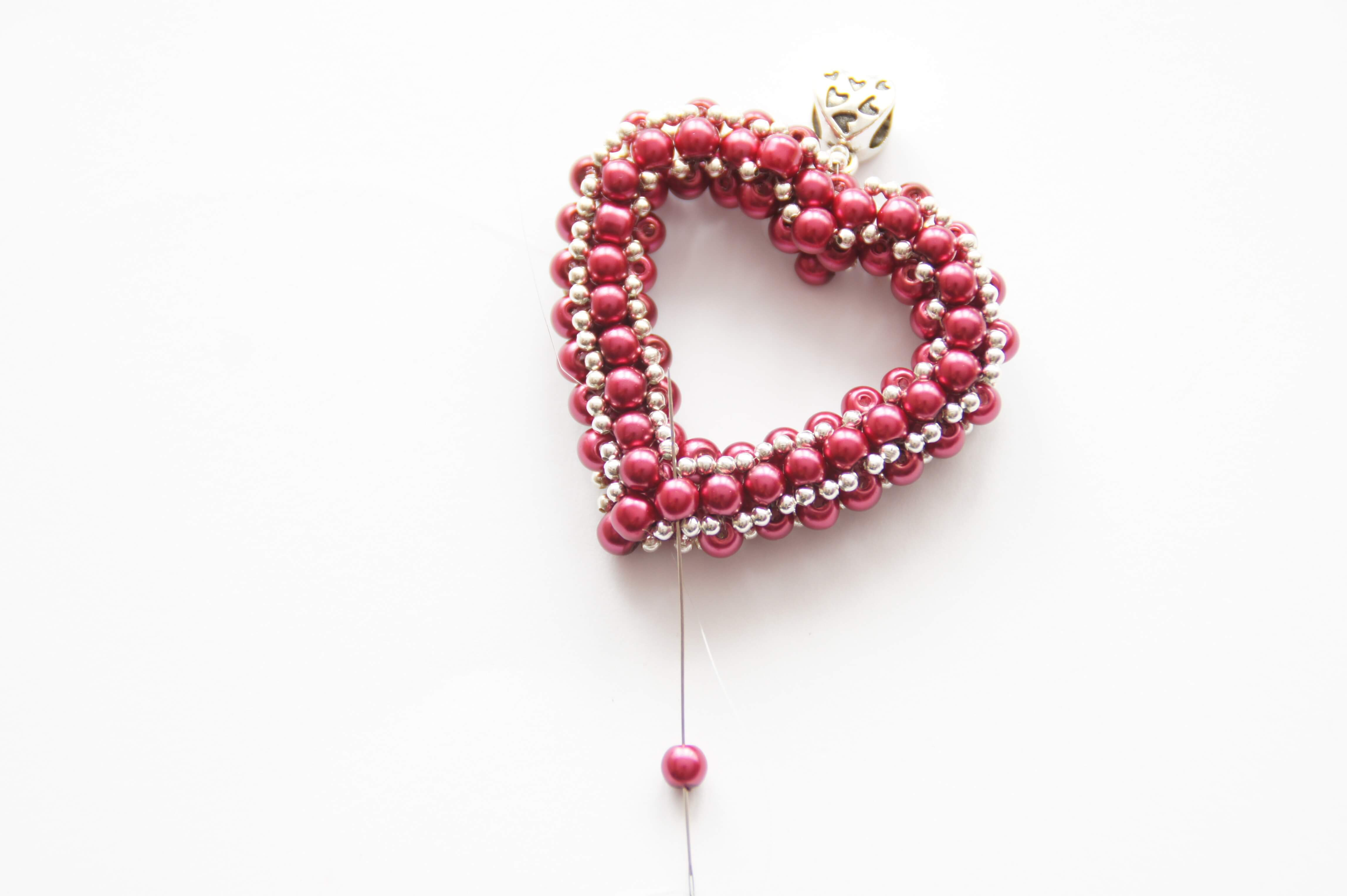 How To Make A Beaded Heart – Jewellery Making Tutorial (View 10 of 25)
