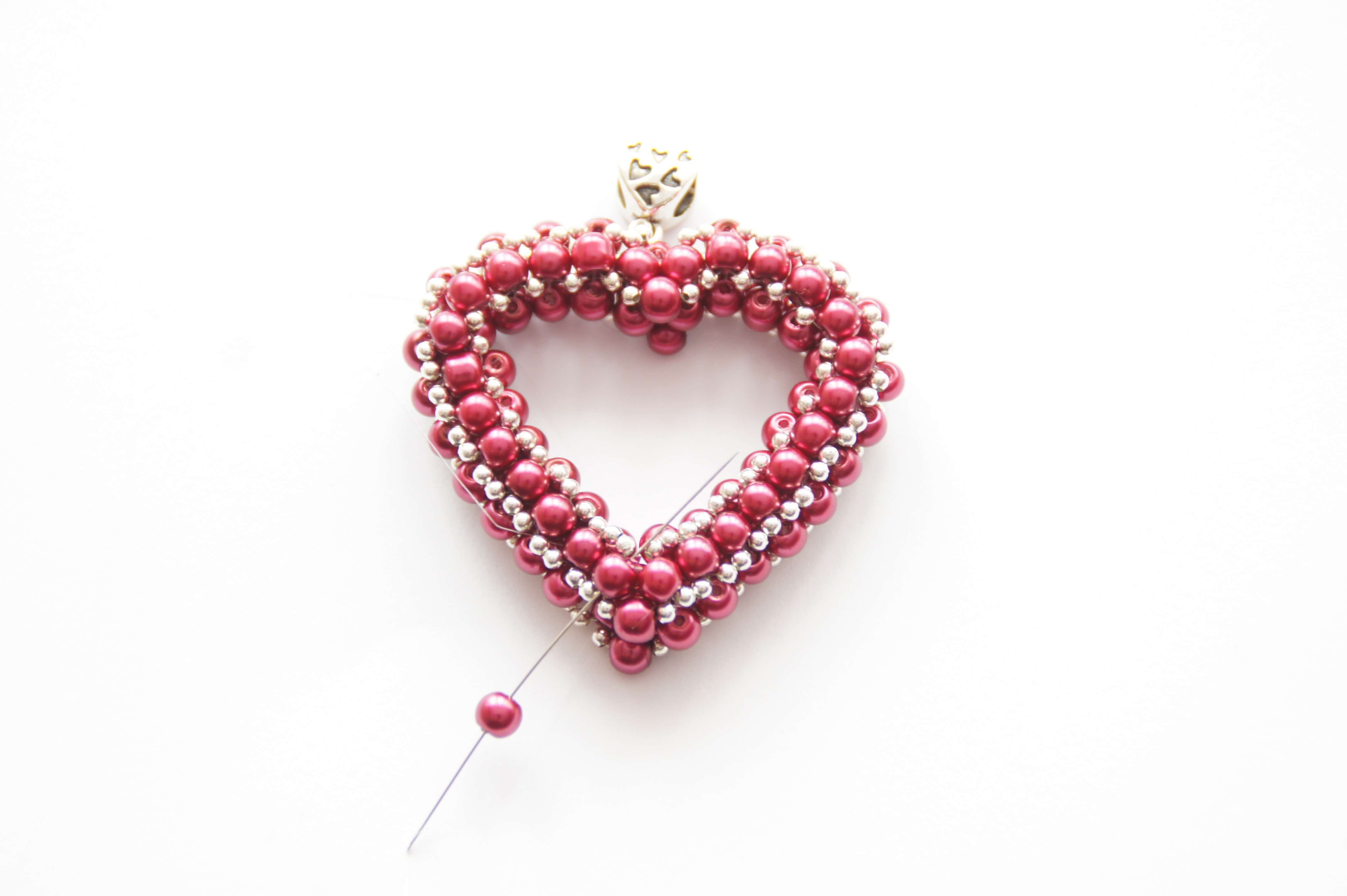 How To Make A Beaded Heart – Jewellery Making Tutorial. | Projects Regarding Newest Clear Heart Beaded Rings (Gallery 24 of 25)