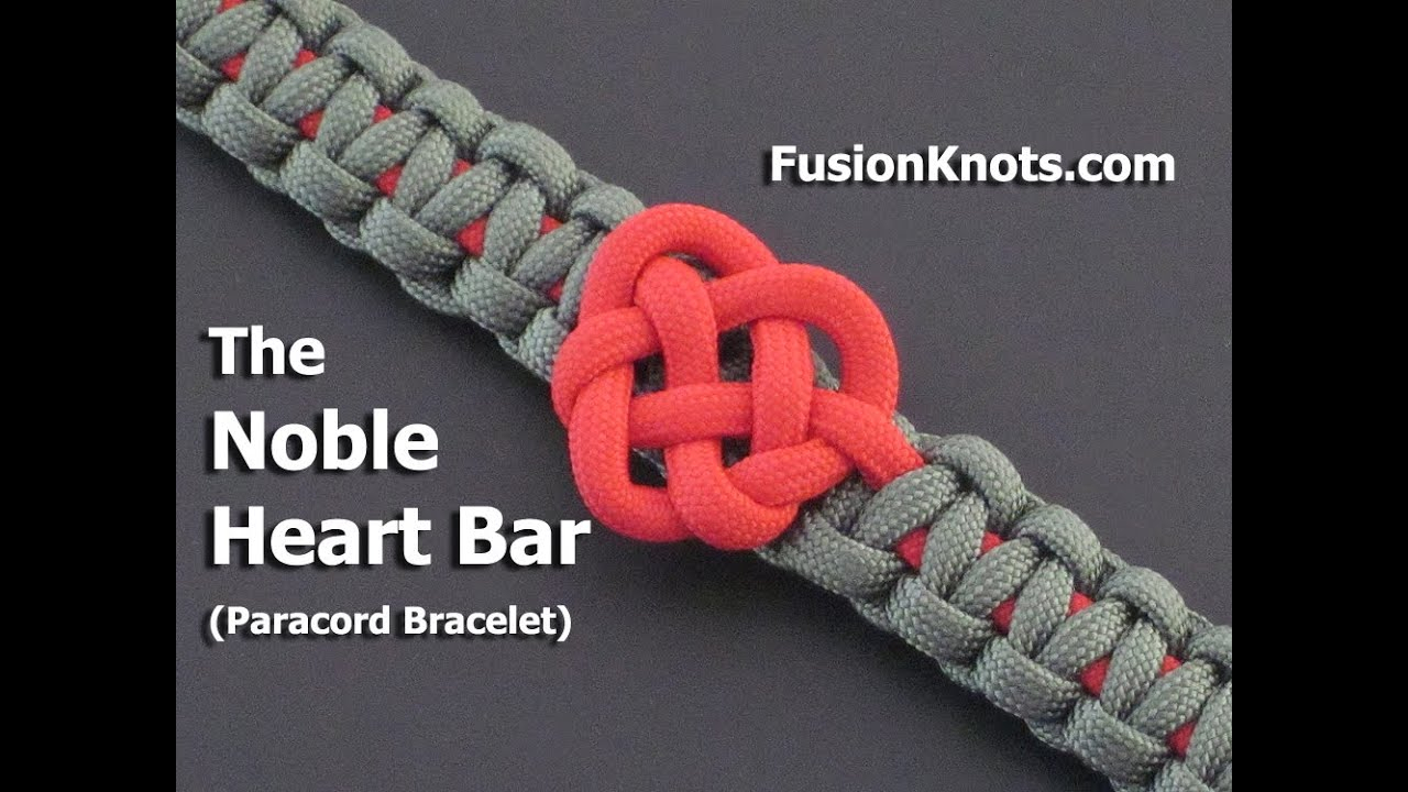 How To Make A Noble Heart Bar (Paracord) Bracelettiat Throughout Latest Knotted Hearts T Bar Necklaces (Gallery 14 of 25)