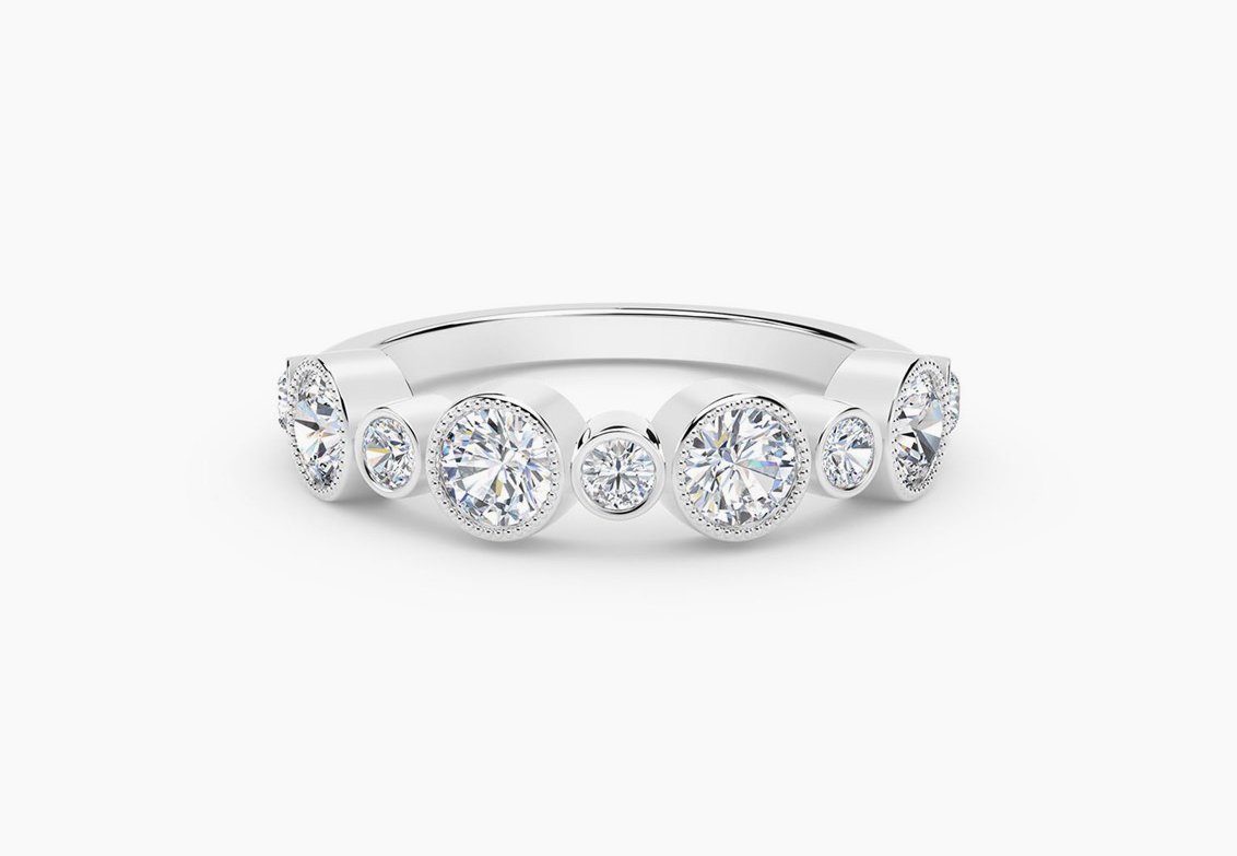 How To Stack And Layer Diamond Jewelry | Forevermark In Most Recently Released Diamond Layered Anniversary Ring In White Gold (Gallery 16 of 25)