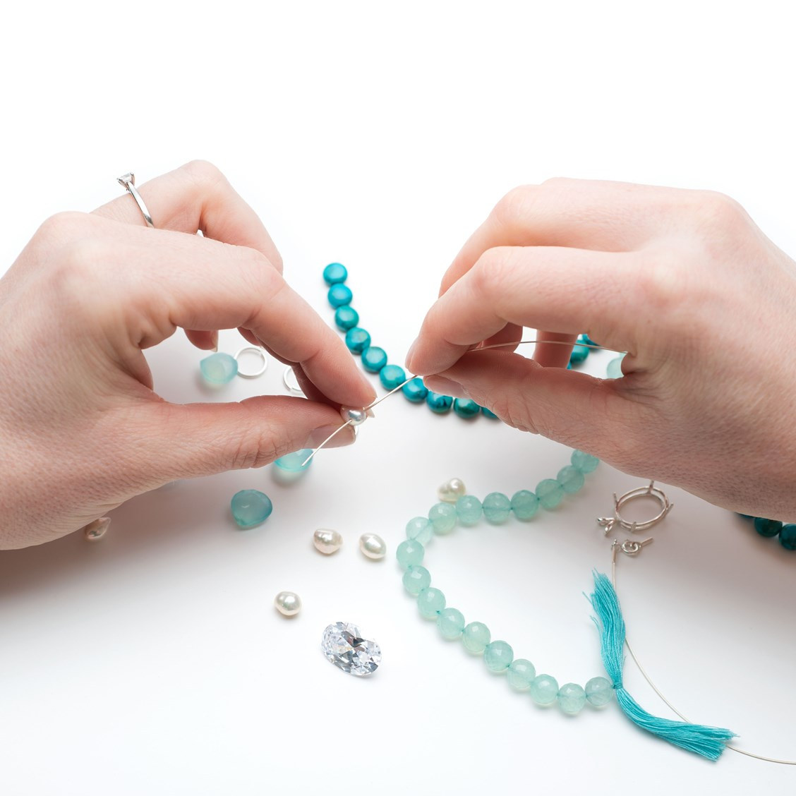 How To String Beads With Small Holes | Kernowcraft Regarding Most Up To Date Strings Of Beads Rings (Gallery 7 of 25)