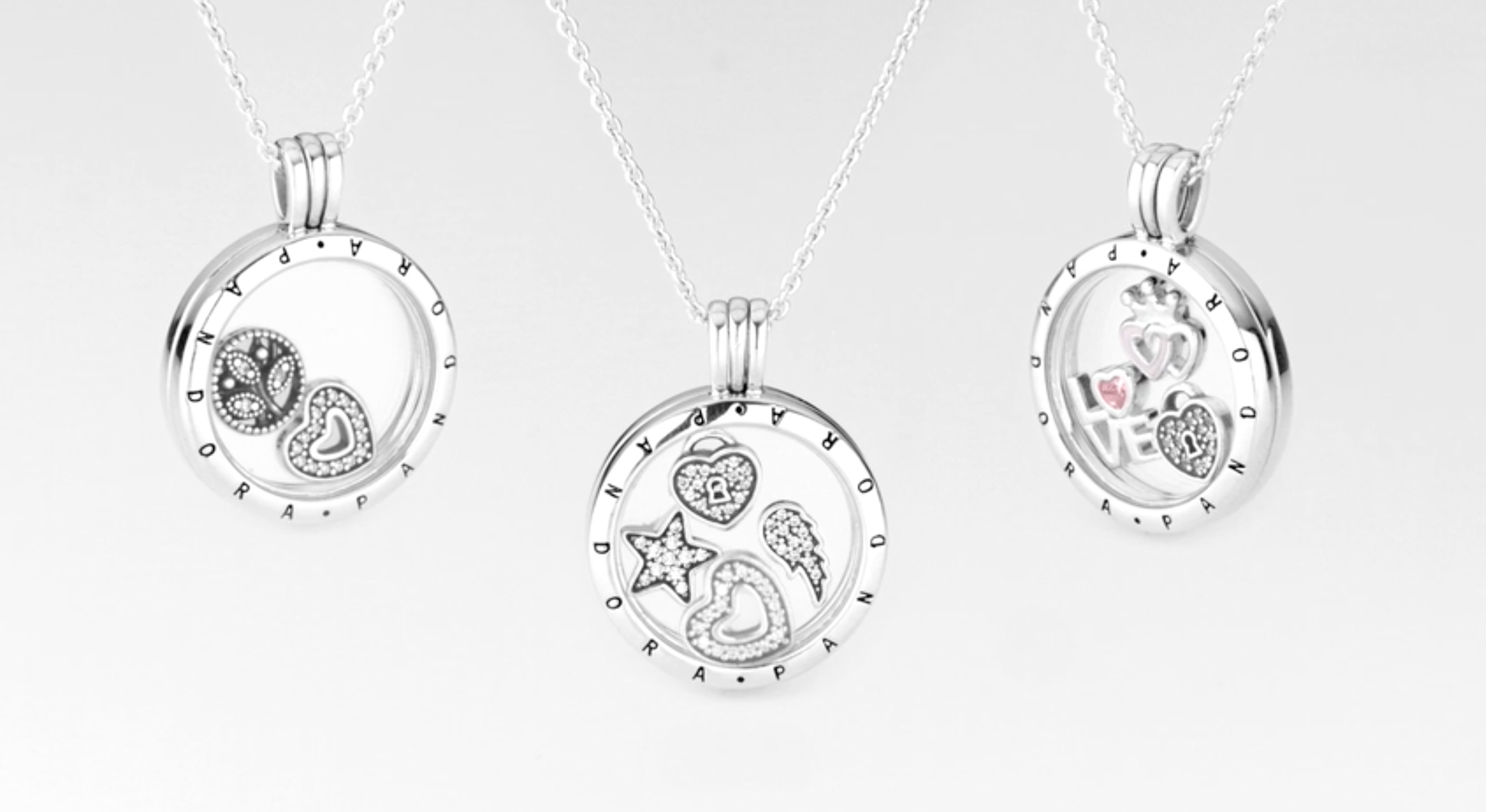 How We Saved $50 $80 On Pandora's Latest Floating Locket Necklace In Most Recent Love & Family Petite Locket Charms Necklaces (Gallery 7 of 25)