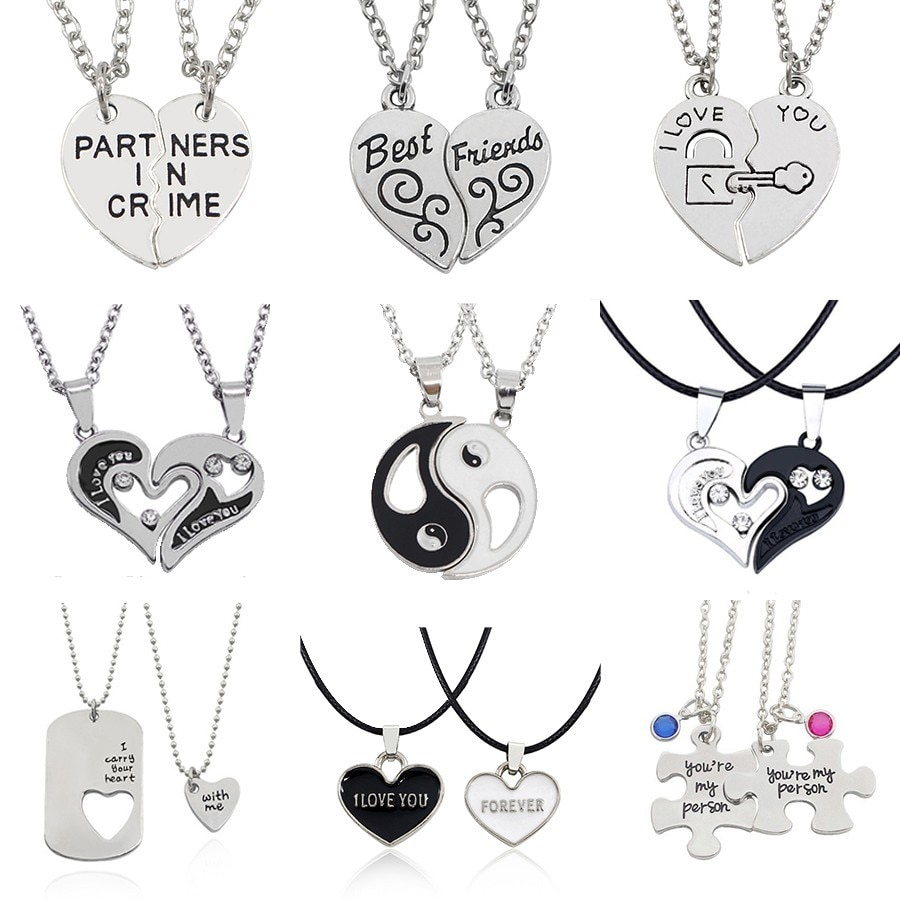 I Love You Best Friends Couple Necklace Jewelry Puzzle Bff Key Lock Intended For Most Recently Released Best Friends Heart & Key Necklaces Pendant Necklaces (Gallery 1 of 25)
