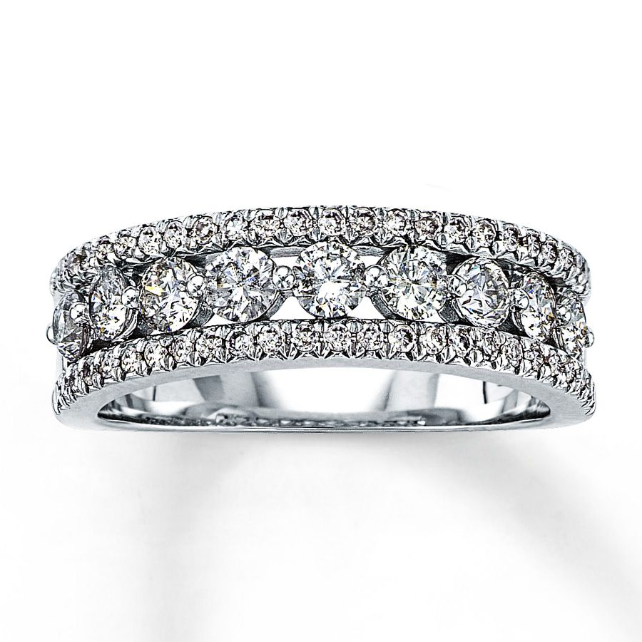 I Want My Ring!!!!! Jared – Diamond Anniversary Ring 1 Ct Tw Throughout Most Recent Baguette And Round Diamond Weaved Anniversary Rings In White Gold (Gallery 1 of 25)