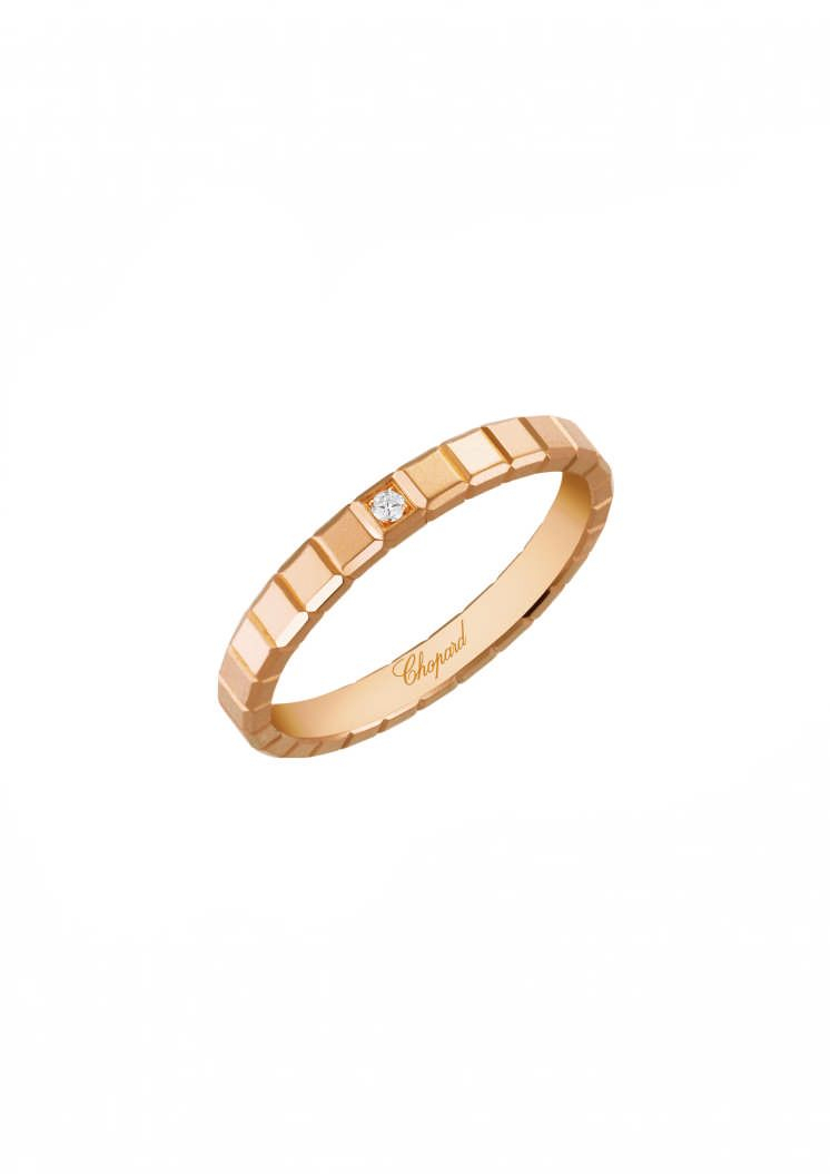 Ice Cube Pure Ring 18K Rose Gold And Diamond @827702 5229 – Chopard Pertaining To 2018 Sparkling Ice Cube Rings (View 14 of 25)