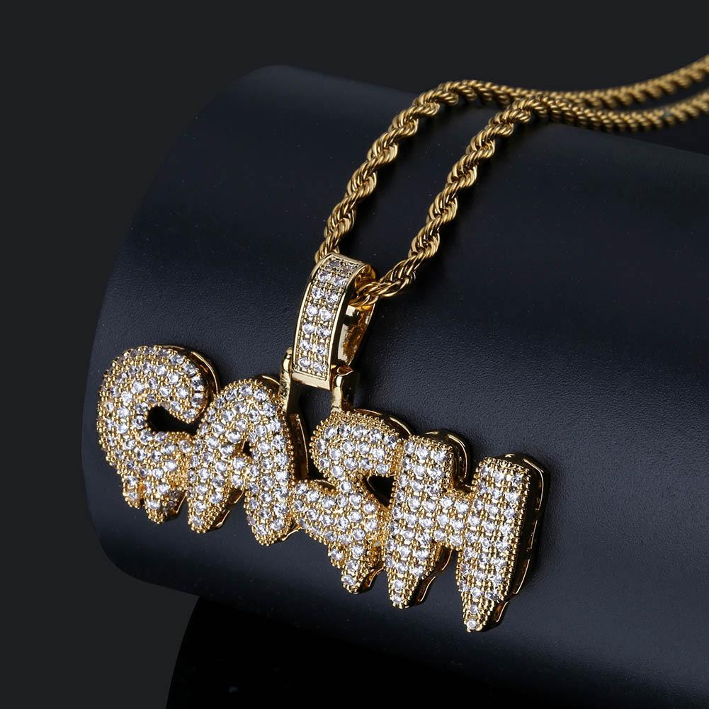 Iced Out Pendant Hip Hop Jewelry Designer Necklace Micro Pave Cubic Zircon Gash Mens Gold Chain Pendants Luxury Fashion Pandora Style Charms Inside Most Recent Pandora Logo Pavé Pendant Necklaces (View 20 of 25)