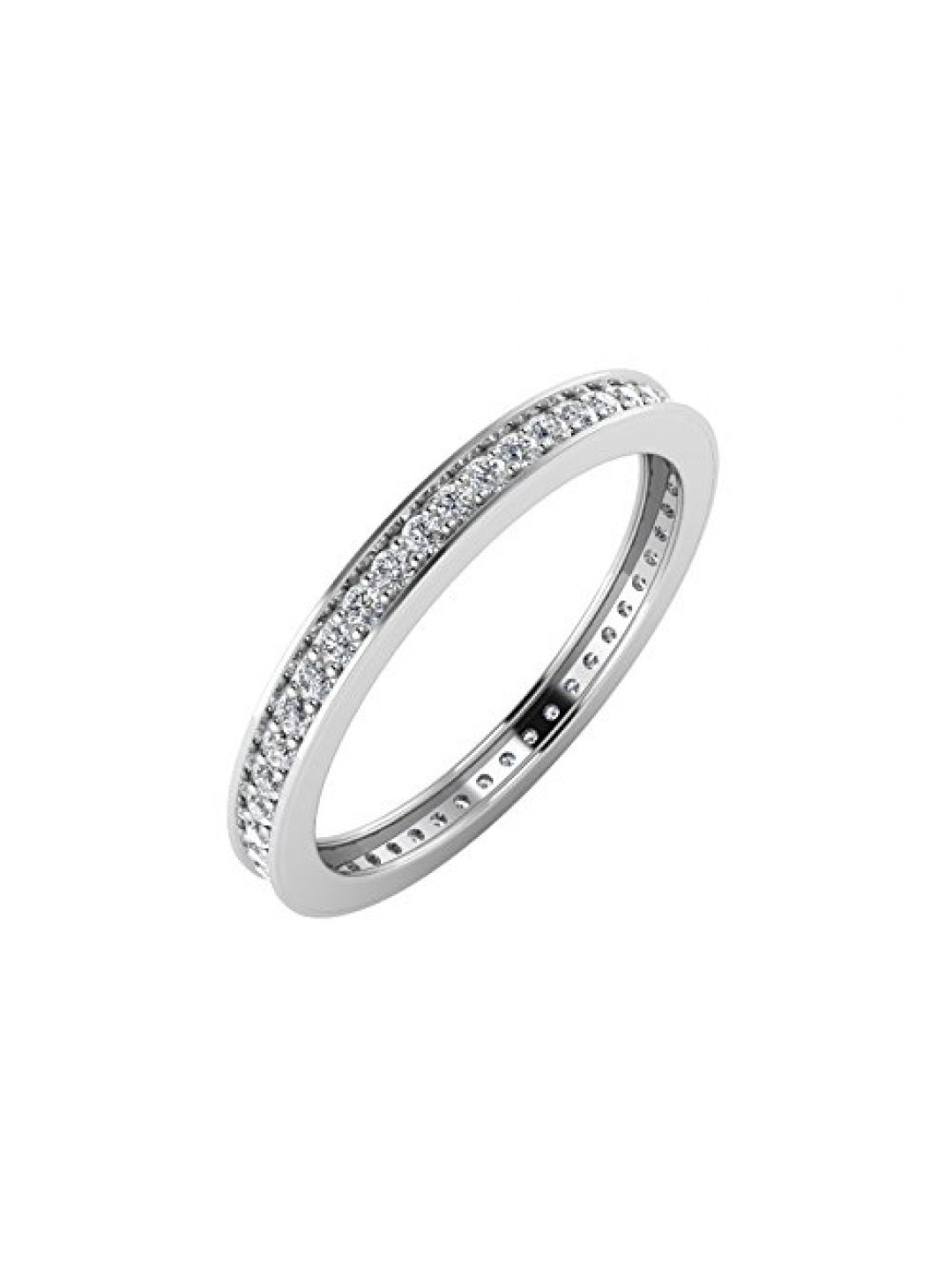 Igi Certified 10K White Gold Pave Set Diamond Eternity Wedding/anniversary Band Ring (1/4 Carat) In 2020 Certified Diamond Anniversary Bands In White Gold (View 8 of 25)