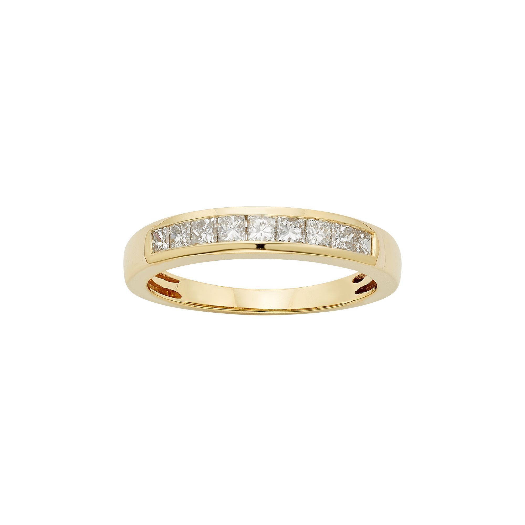 Igl Certified Diamond Wedding Ring In 14k Gold (1/2 Carat For Most Up To Date Certified Princess Cut Diamond Anniversary Bands In White Gold (View 6 of 25)