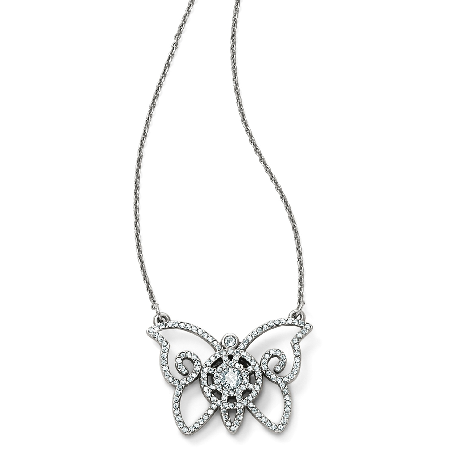Illumina Petite Butterfly Necklace Intended For Latest Sparkling Butterfly Y  Necklaces (Gallery 20 of 25)