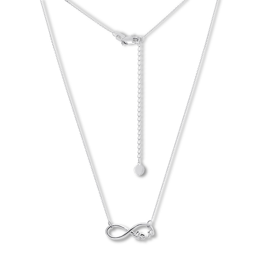 Infinity Love Necklace Sterling Silver With Most Popular Sparkling Infinity Locket Element Necklaces (View 14 of 25)