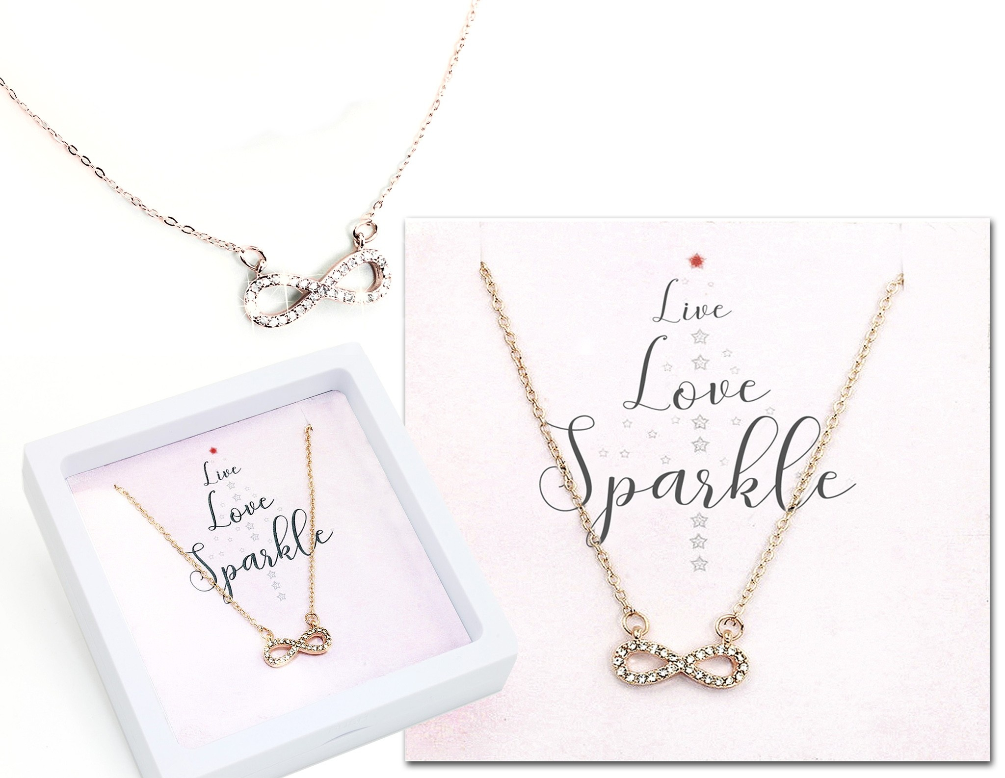 Infinity Pendant Love Live Sparkle – Sets With Most Popular Sparkling Infinity Locket Element Necklaces (Gallery 10 of 25)