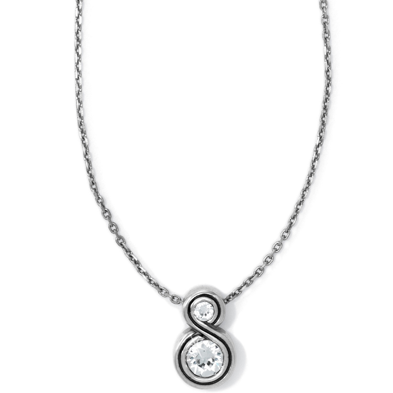 Infinity Sparkle Petite Necklace Within Most Recent Sparkling Square Halo Pendant Necklaces (Gallery 9 of 25)
