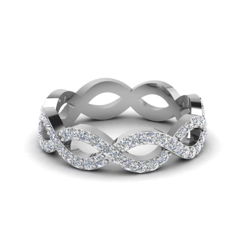 Featured Photo of Diamond Eternity Anniversary Bands In White Gold