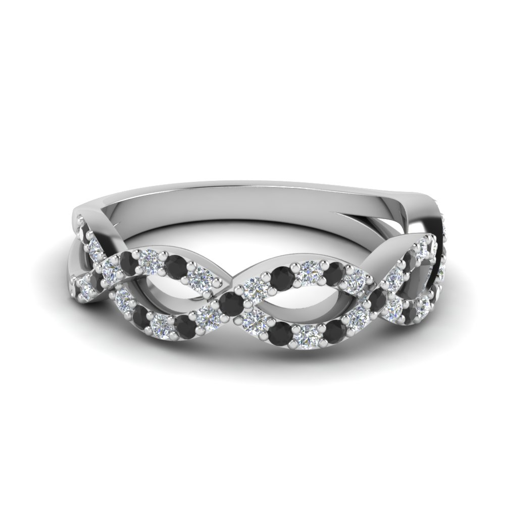 Infinity Twist Wedding Ring Inside Newest Diamond Accent Milgrain Twist Anniversary Bands In White Gold (View 9 of 25)