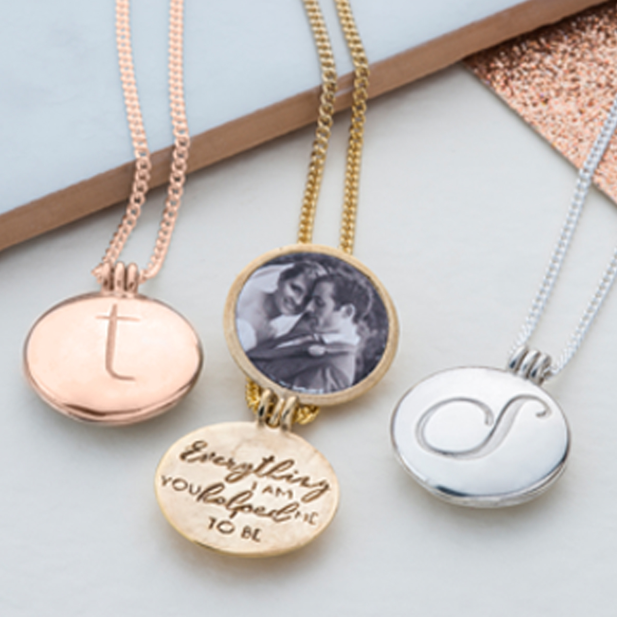 Initial Locket With Hidden Message With Latest Sparkling Gift Locket Element Necklaces (View 18 of 25)