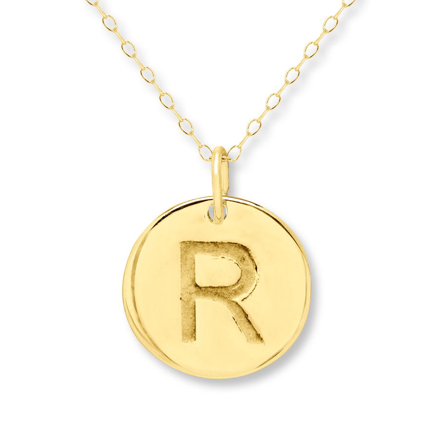 "Initial ""r"" Necklace 14k Yellow Gold With 2019 Letter R Alphabet Locket Element Necklaces (View 7 of 25)"