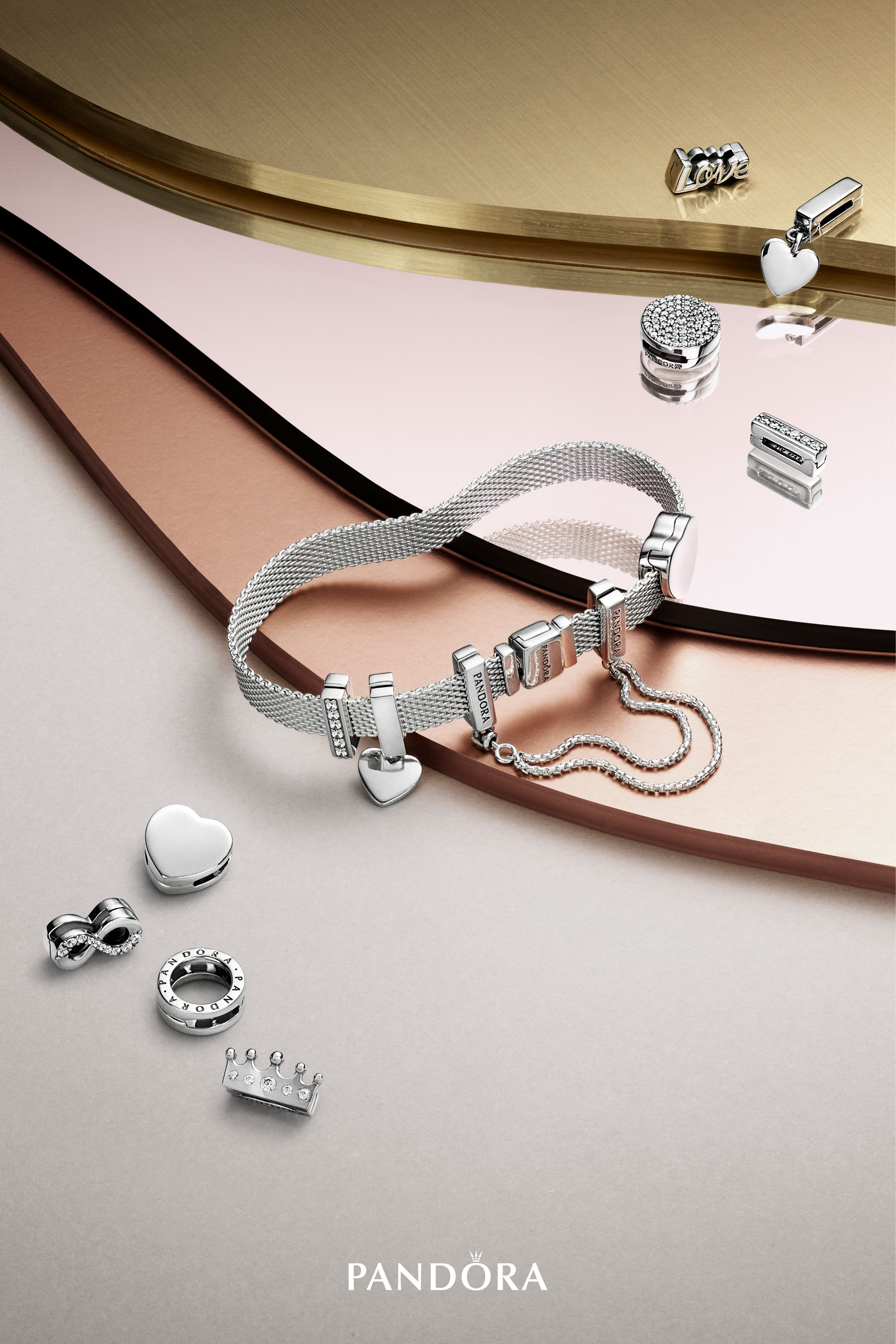 Inspiredmodern Femininity, Pandora Reflexions Marks A New Era Of Pertaining To Newest Pandora Reflexions Mesh Choker Necklaces (View 2 of 25)