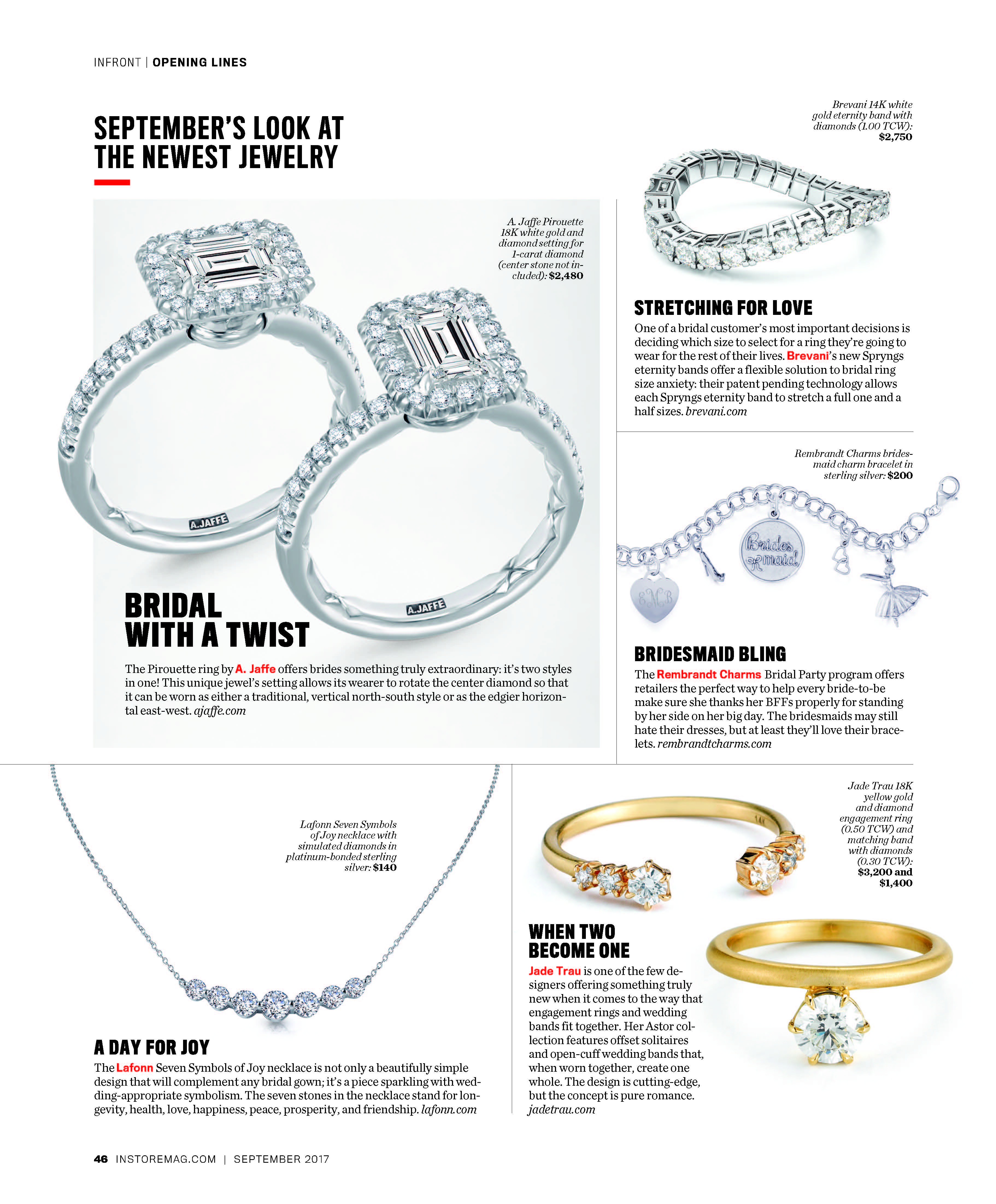 Instore Magazine September 2017  Press Regarding 2017 Sparkling Twisted Lines Rings (Gallery 13 of 25)