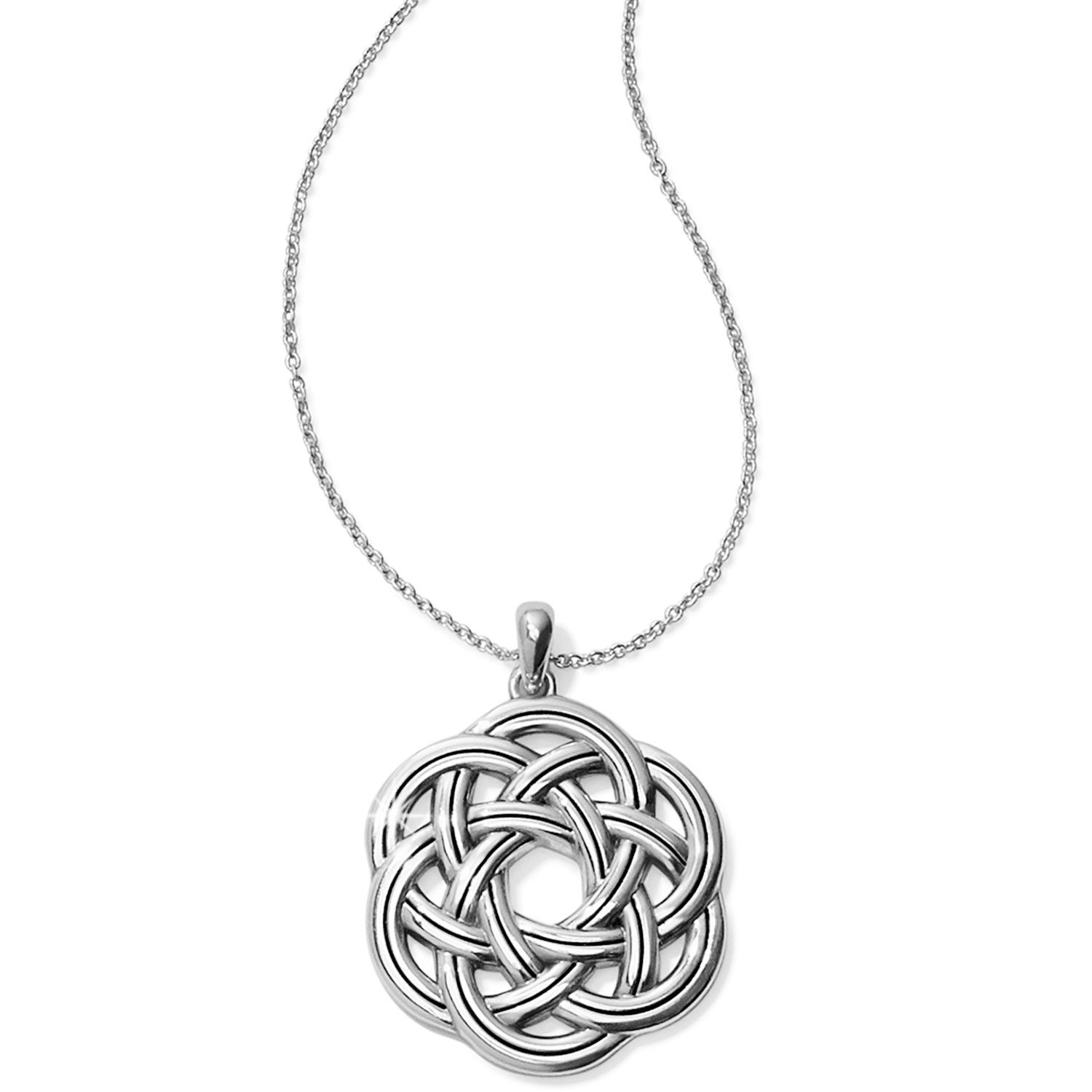 Interlok Eternity Circle Necklace Intended For 2019 Shimmering Knot Pendant Necklaces (View 12 of 25)