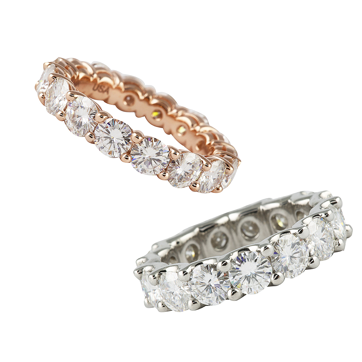 Introducing Moissanite Eternity Bands | Jewelry Blog Regarding Recent Diamond Five Stone Triple Row Anniversary Bands In White Gold (View 16 of 25)