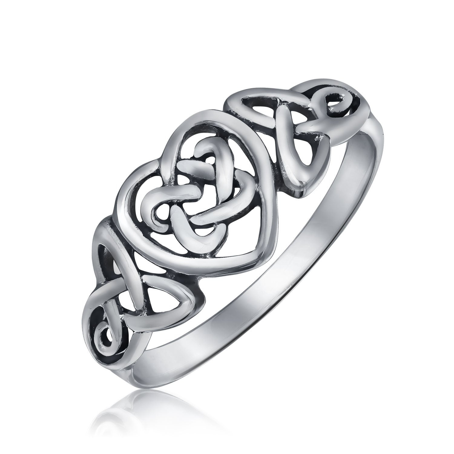 Irish Celtic Love Knots Infinity Heart Forever Endless Promise Ring 925  Sterling Silver Polished Finish Band With Regard To Latest Knotted Hearts Rings (View 8 of 25)
