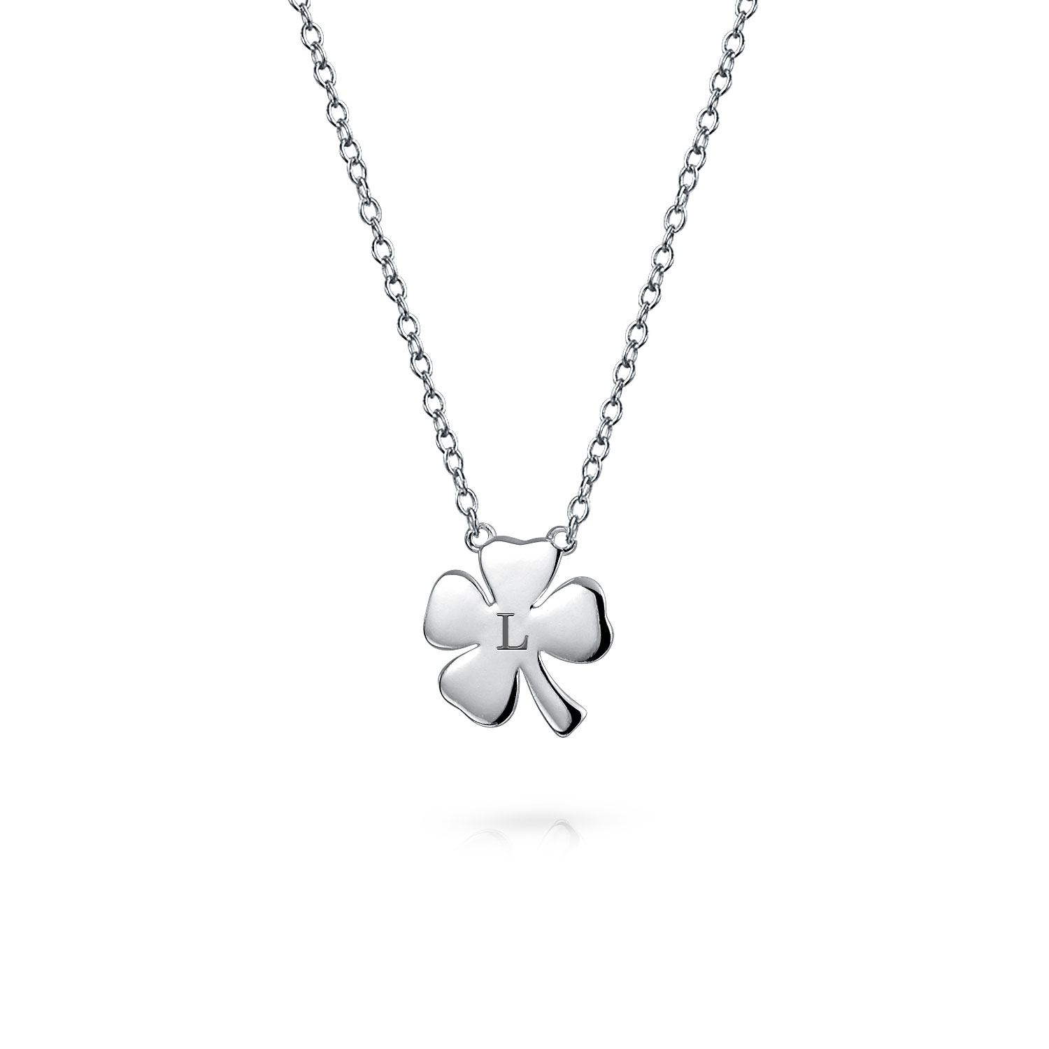Irish Shamrock Good Luck Charm Four Leaf Clover Pendant Necklace For Women  For Teen 925 Sterling Silver Regarding Most Current Lucky Four Leaf Clover Dangle Charm Necklaces (View 14 of 25)