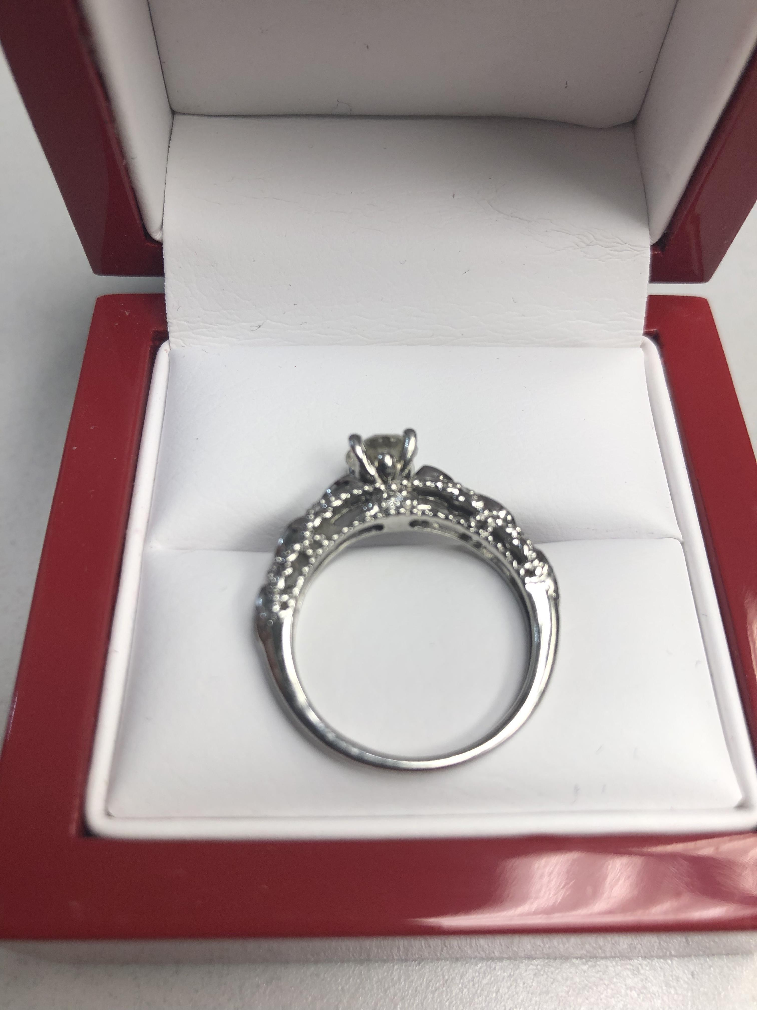 James Allen Vintage Engagement Ring Pertaining To 2018 Beaded Two Hearts Open Rings (View 8 of 25)