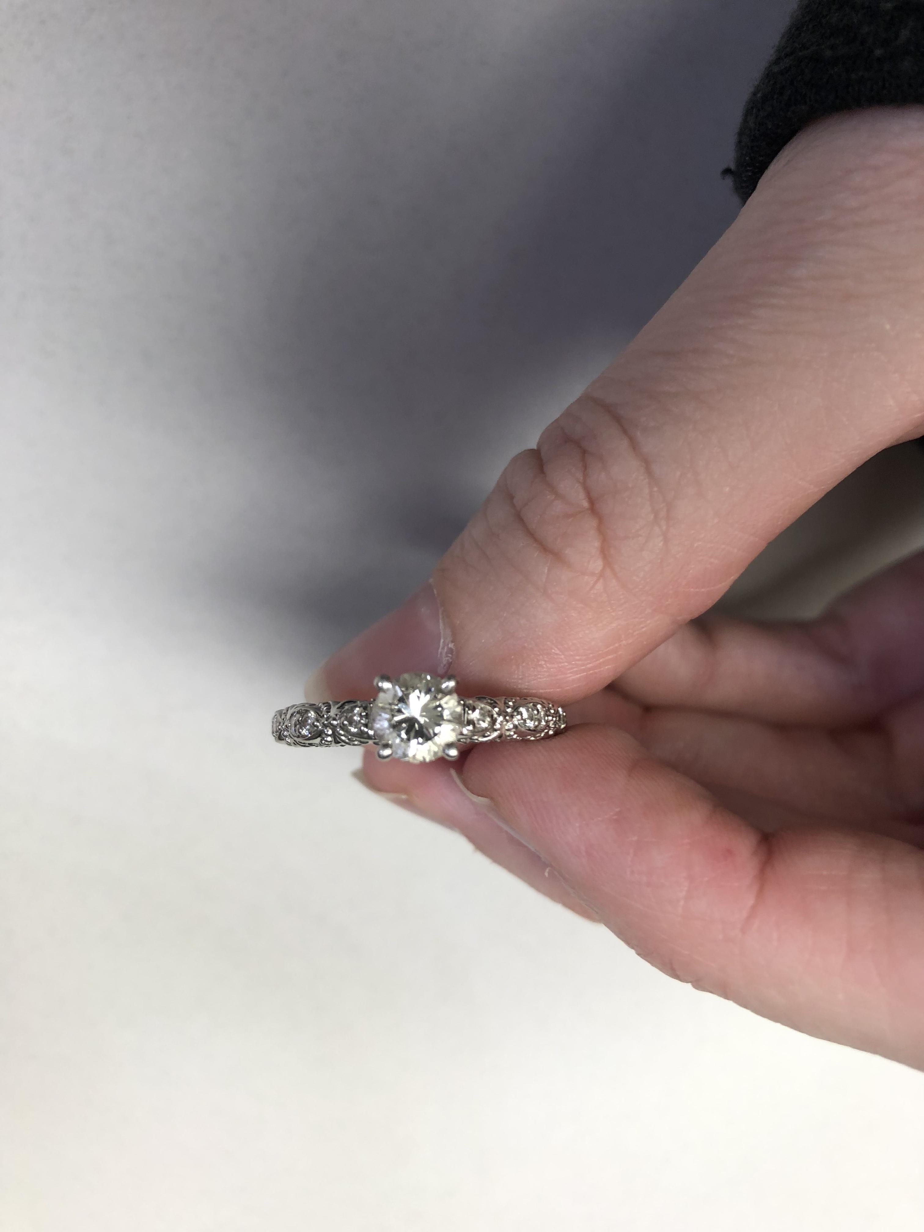 James Allen Vintage Engagement Ring Within Best And Newest Beaded Two Hearts Open Rings (View 9 of 25)