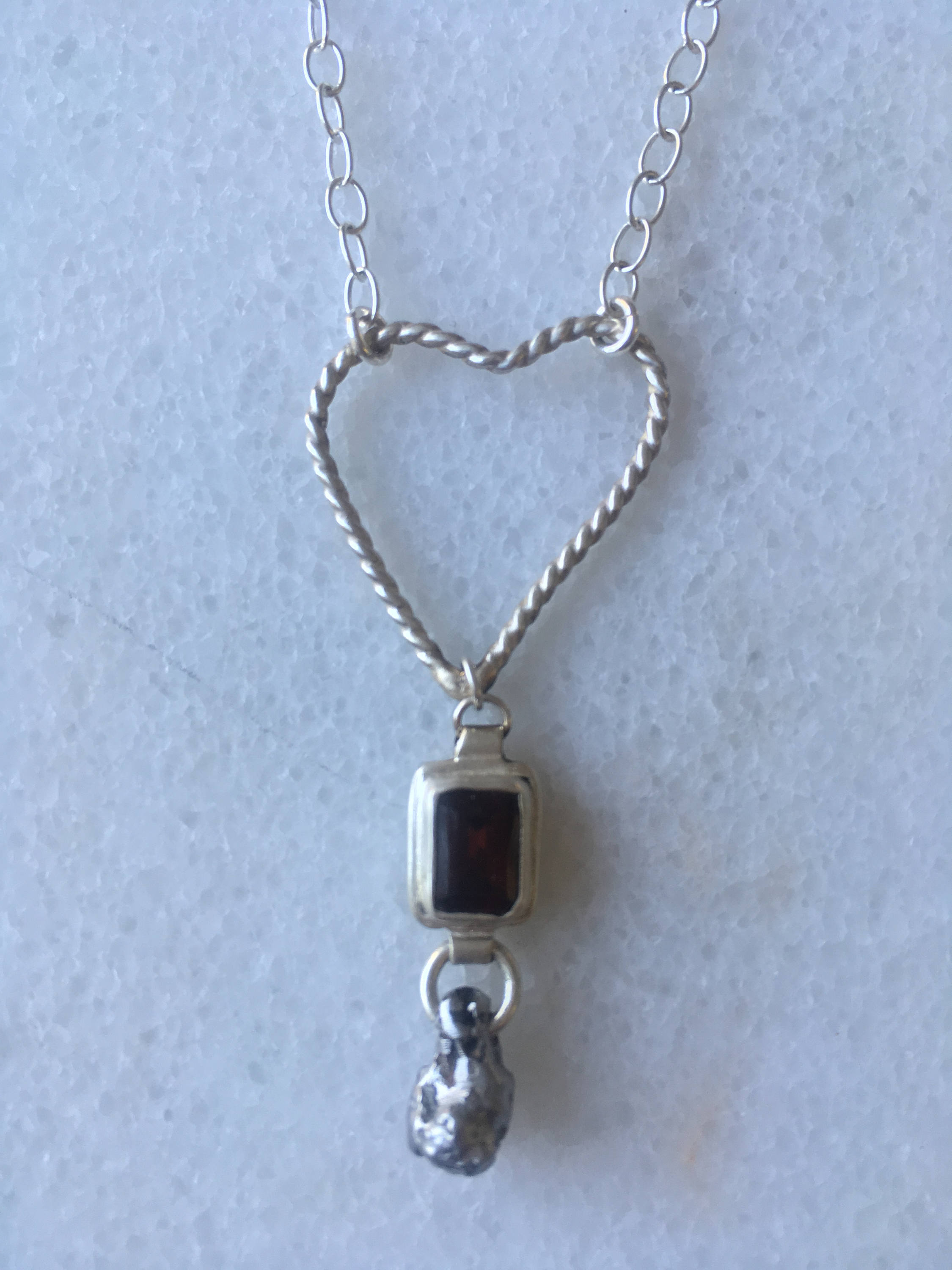 January Birthstone – Meteorite Necklace Pertaining To Most Recently Released Garnet Red January Birthstone Locket Element Necklaces (Gallery 6 of 25)