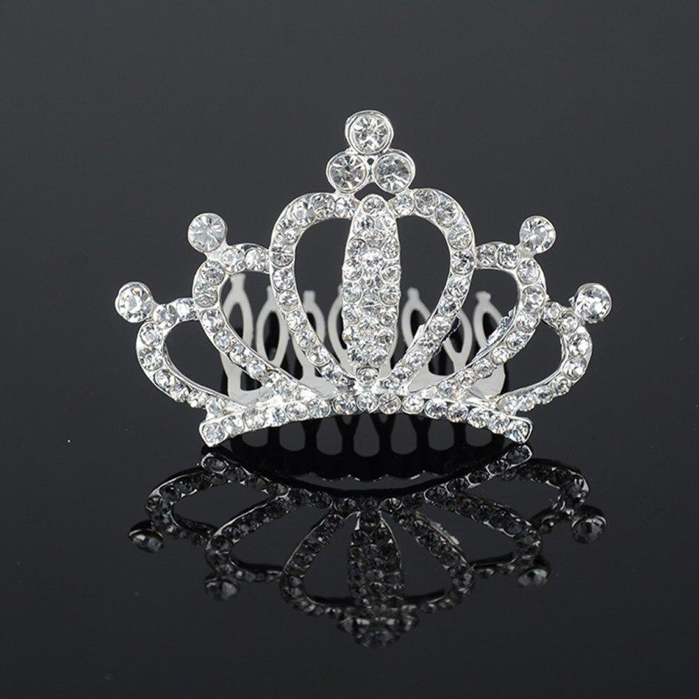 Javrick Crystal Tiara Crowns Hair Veil Comb Rhinestone Wedding Bridal  Pageant Headband Regarding Most Popular Tiara Crown Collier Necklaces (Gallery 10 of 25)