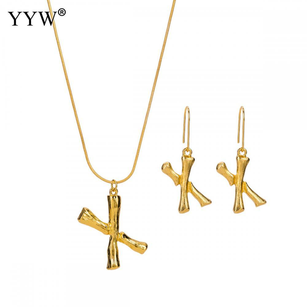 Jewelry Sets Letter X Necklace Snake Chain Gold Color Initial Pendant Alphabet Earrings Sets For Women Men Best Christmas Gift In Current Letter L Alphabet Locket Element Necklaces (Gallery 25 of 25)