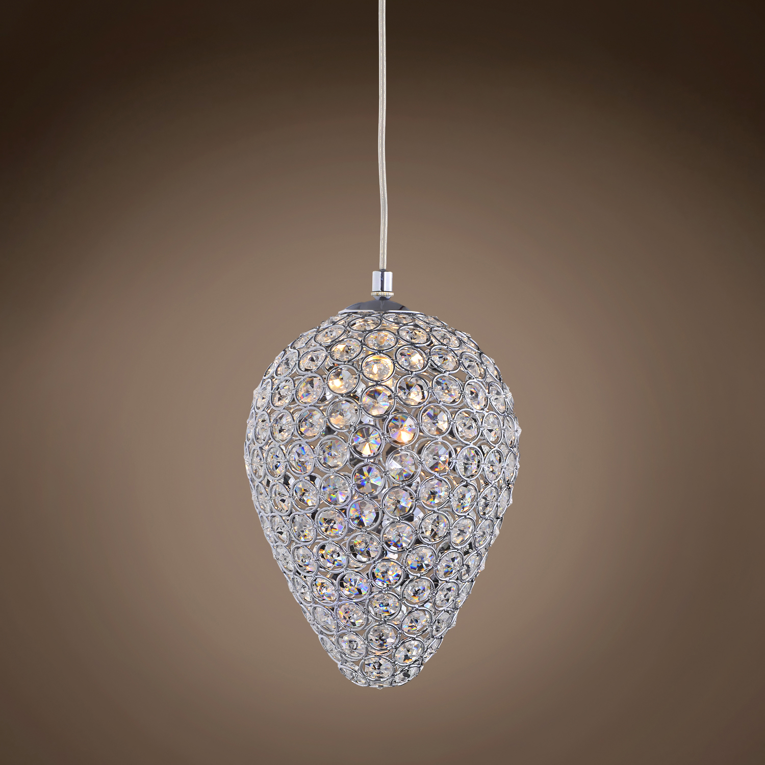 "Jm Limited Edition 1 Light 6"" Teardrop Crystal Mini Pendant Light In Chrome Finish Pertaining To Newest Sparkling Teardrop Chandelier Pendant Necklaces (View 11 of 25)"