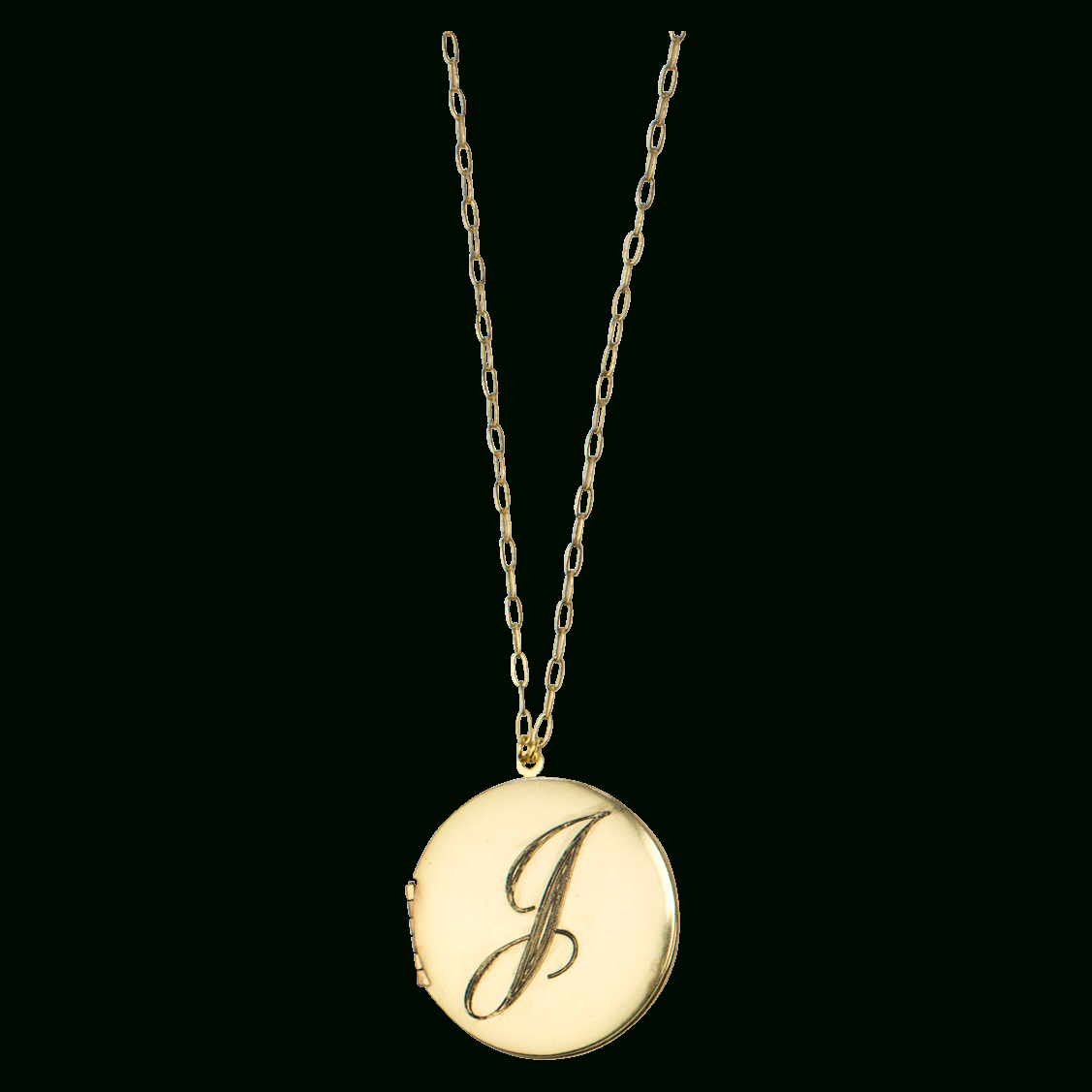 John Wind Monogram Locket Pendant With Regard To Latest Sparkling Daisy Flower Locket Element Necklaces (View 7 of 25)