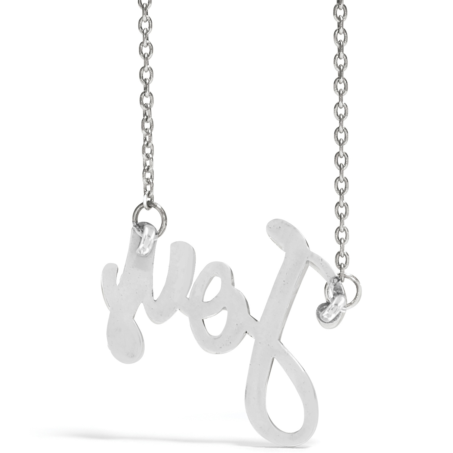 Joy Script Necklace Within Most Current Loved Script Necklaces (Gallery 16 of 25)