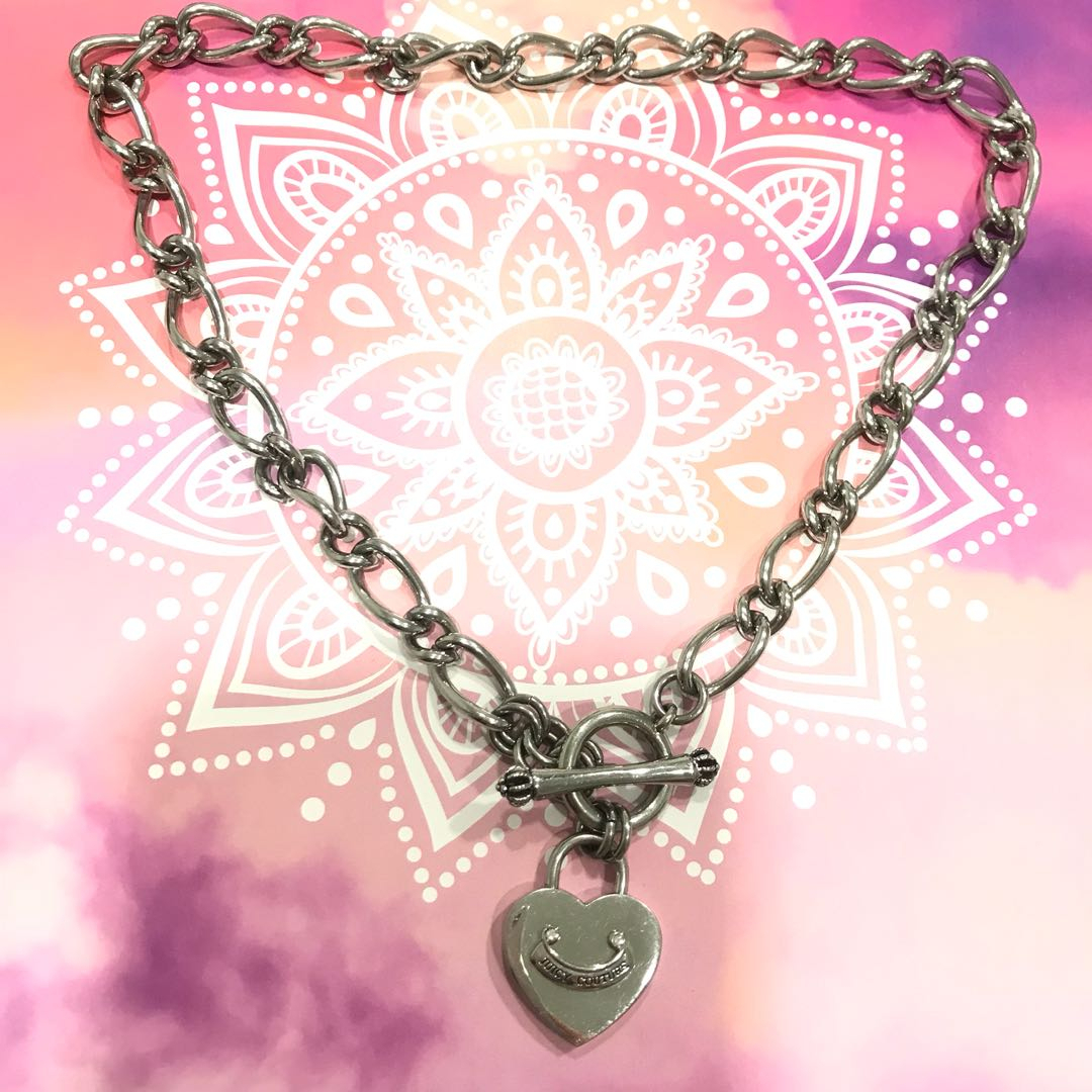 Juicy Couture Heart Padlock Starter Necklace (Silver) On Carousell For Current Heart Padlock Locket Element Necklaces (View 11 of 25)