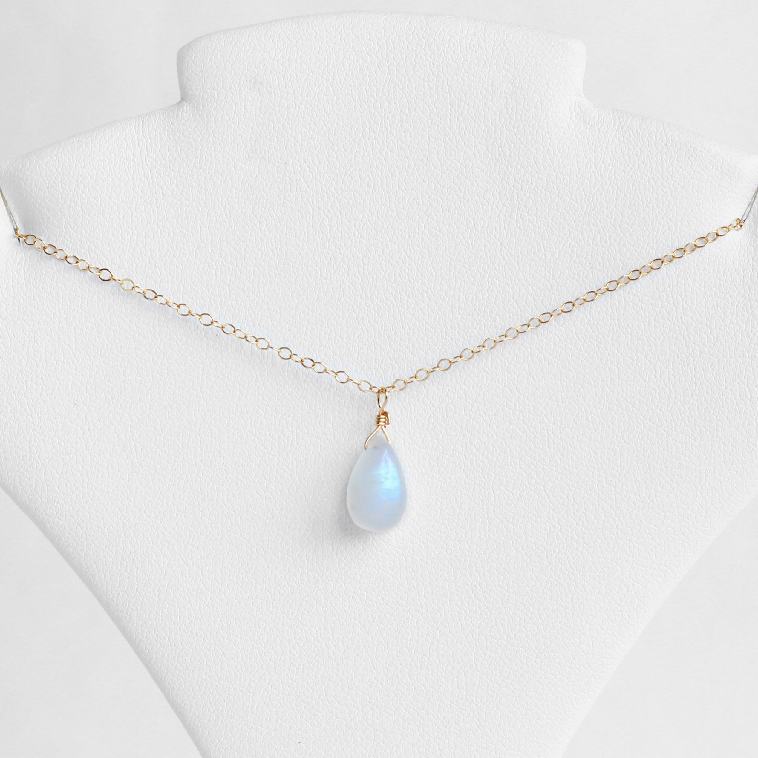 June Birthstone, Moonstone Necklace, June Birthday Gift, June Birthstone Necklace, June Necklace, Rainbow Moonstone Necklace, Gifts For Her Intended For 2019 Grey Moonstone June Droplet Pendant Necklaces (Gallery 9 of 25)