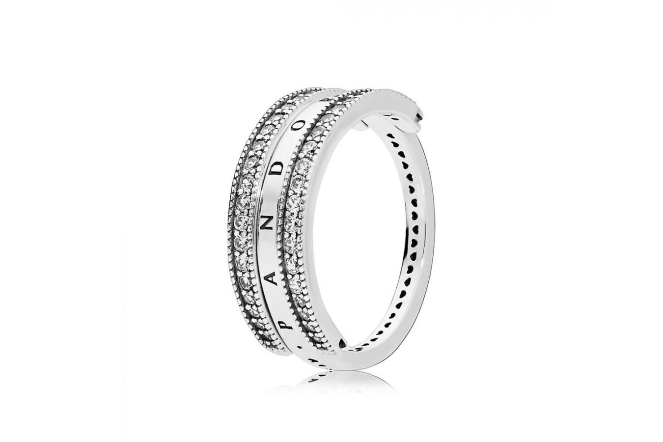 Kaufen Billig Pandora Neueste Kollektion Ringe Flipping Hearts Of Throughout Recent Pandora Logo Pavé Rings (Gallery 19 of 25)