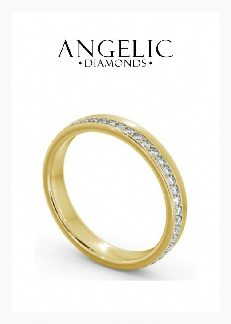 Keep It Simple And Elegant With This Diamond Wedding Ring (View 4 of 25)