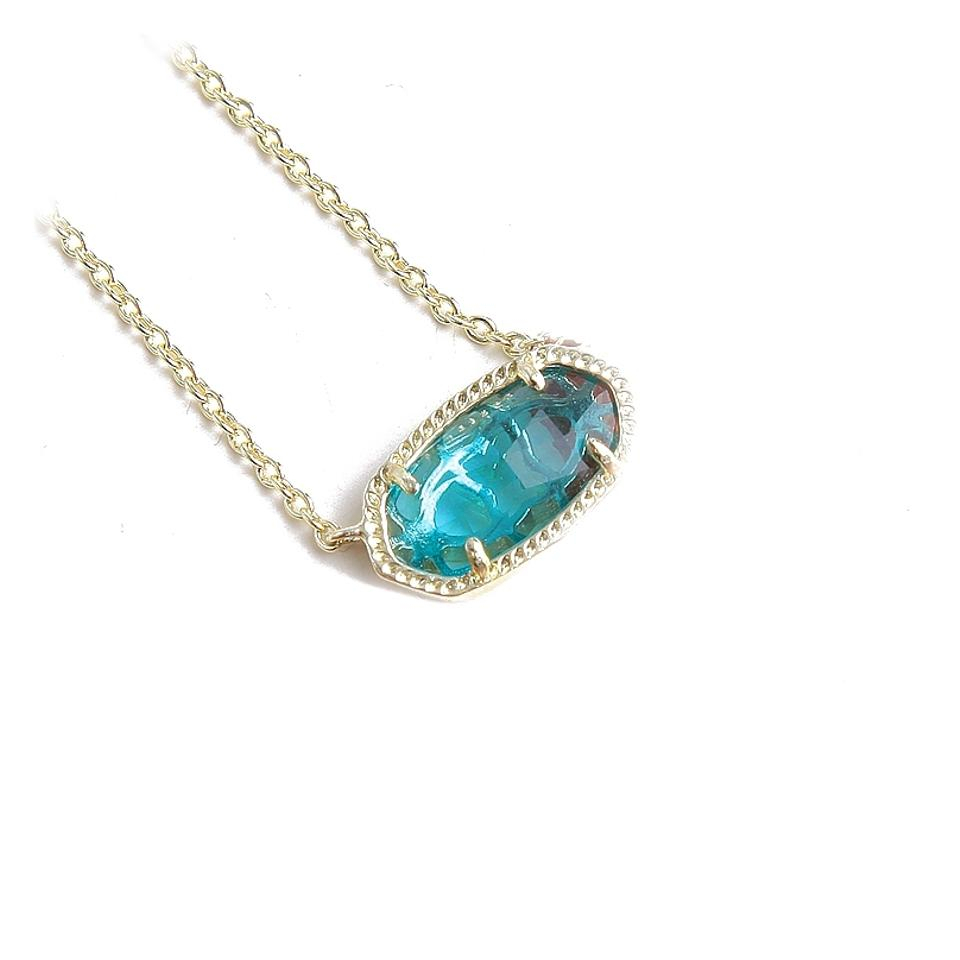 Kendra Scott Gold Elisa London Blue Necklace Inside Current London Blue Crystal December Droplet Pendant Necklaces (View 17 of 25)