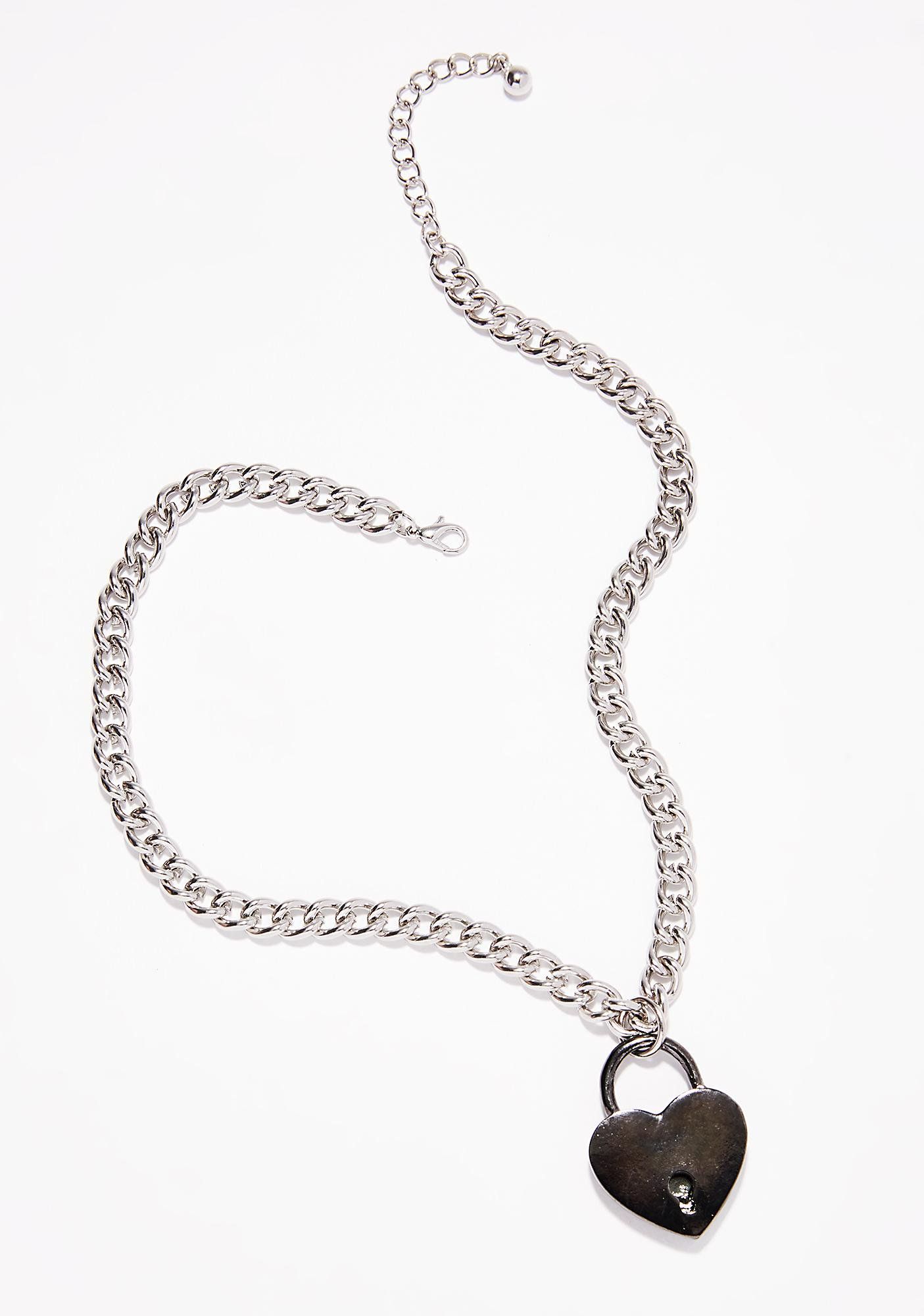 Key To My Heart Necklace With Regard To Most Current Heart Padlock Locket Element Necklaces (View 2 of 25)