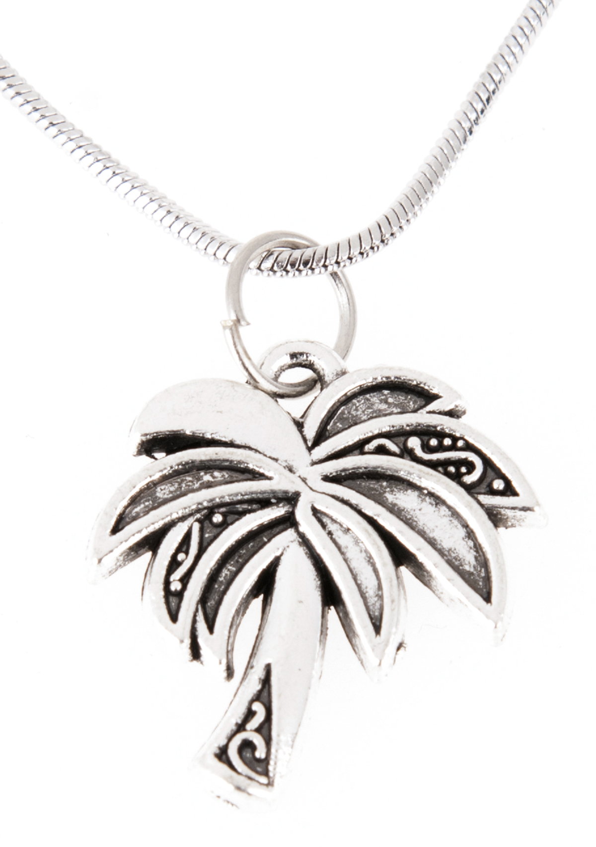 Killer Kirsche Tropical Palm Tree Palmen Vintage Halskette Necklace Within Current Tropical Palm Pendant Necklaces (View 12 of 25)