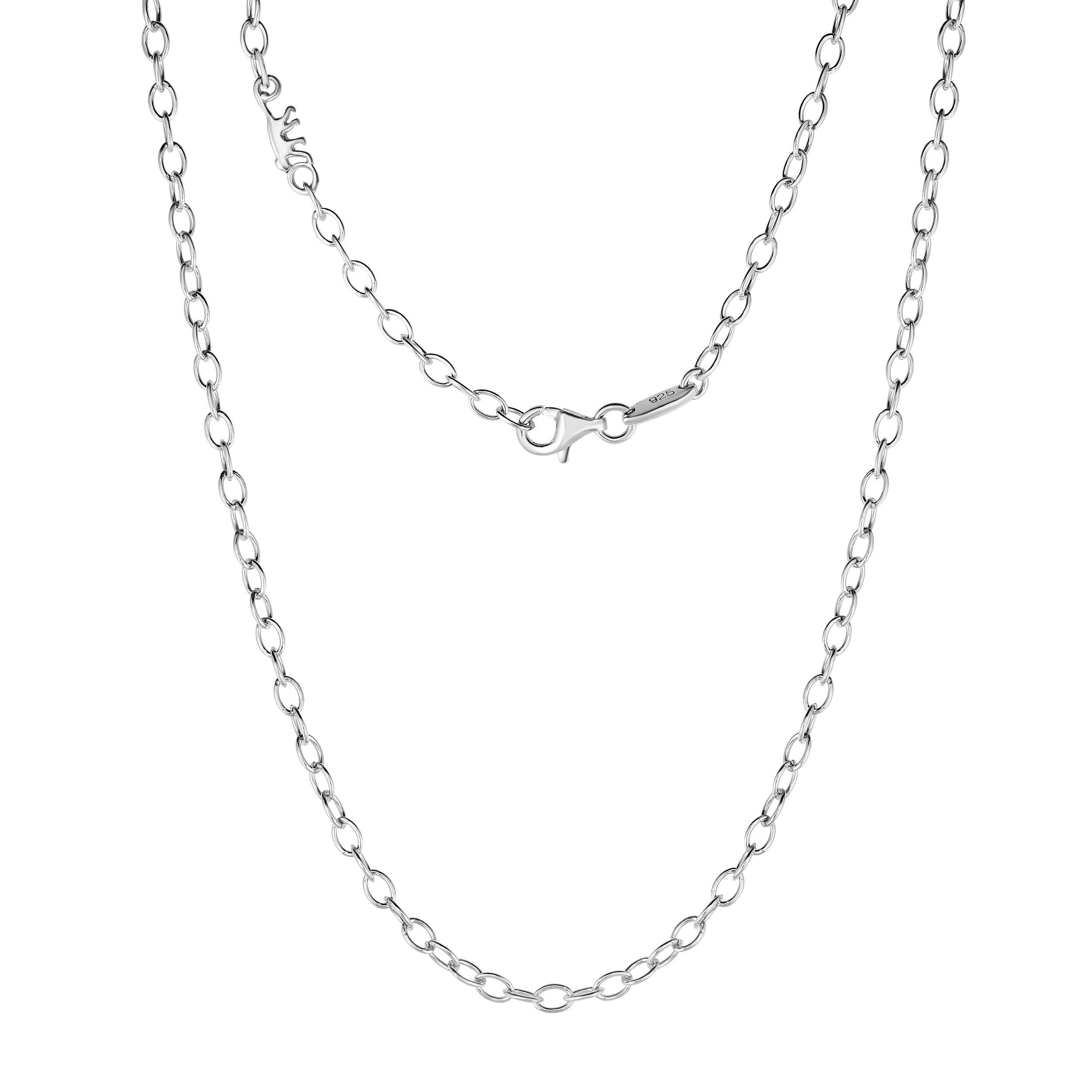 Kipling Children Sterling Silver Cable Chain Necklace – 39 Cm (15 1/3 Inch) With Latest Classic Cable Chain Necklaces (Gallery 7 of 25)