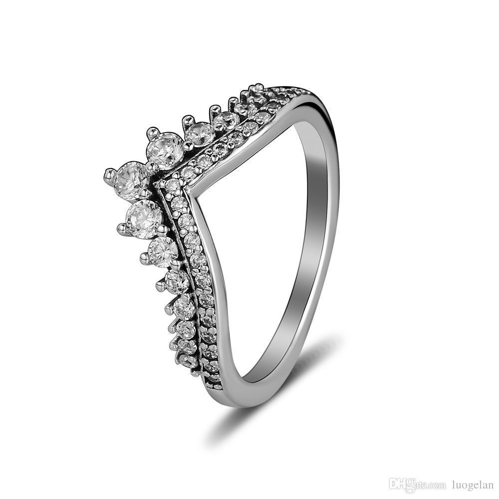 Kompatibel Mit Pandora Schmuck Ring Silber Princess Wish Ringe Mit Cz 100%  925 Sterling Silber Schmuck Großhandel Diy Für Frauen Within Most Popular Princess Wish Rings (Gallery 3 of 25)