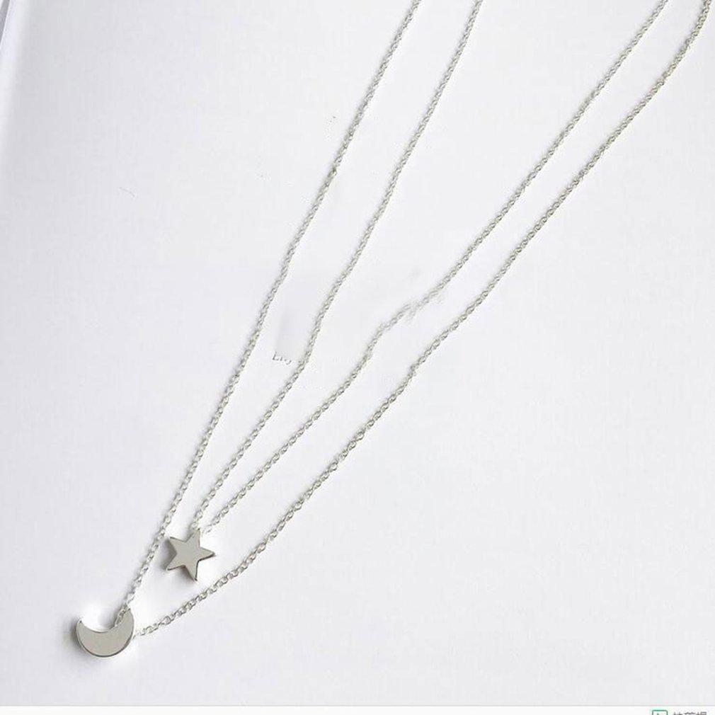 Korean Popular Star Moon Pendant Necklace Women Fashion Jewelry Clavicle  Chain With Most Up To Date Polished Moon & Star Pendant Necklaces (View 12 of 25)